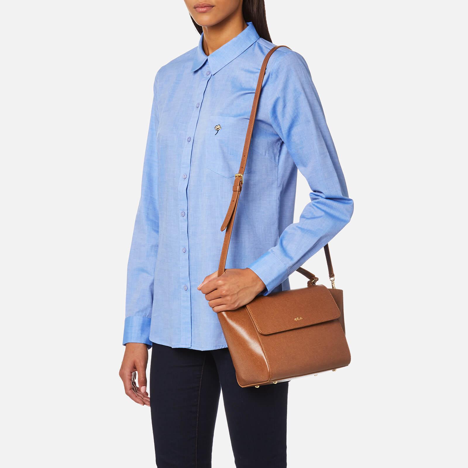 6d018add9b8f Lyst - Lauren by Ralph Lauren Newbury Barclay Cross Body Bag in Brown