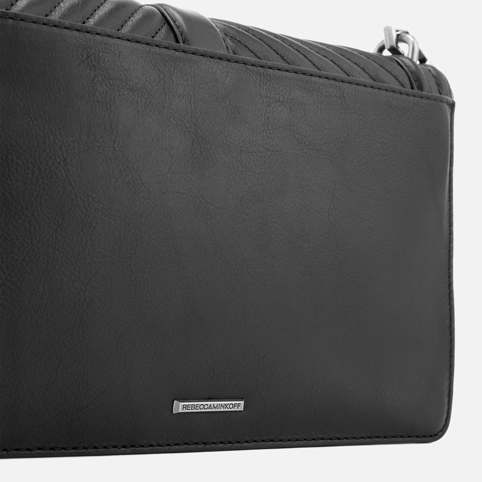 Rebecca Minkoff Leather Chevron Quilted Slim Love Cross Body Bag in Black