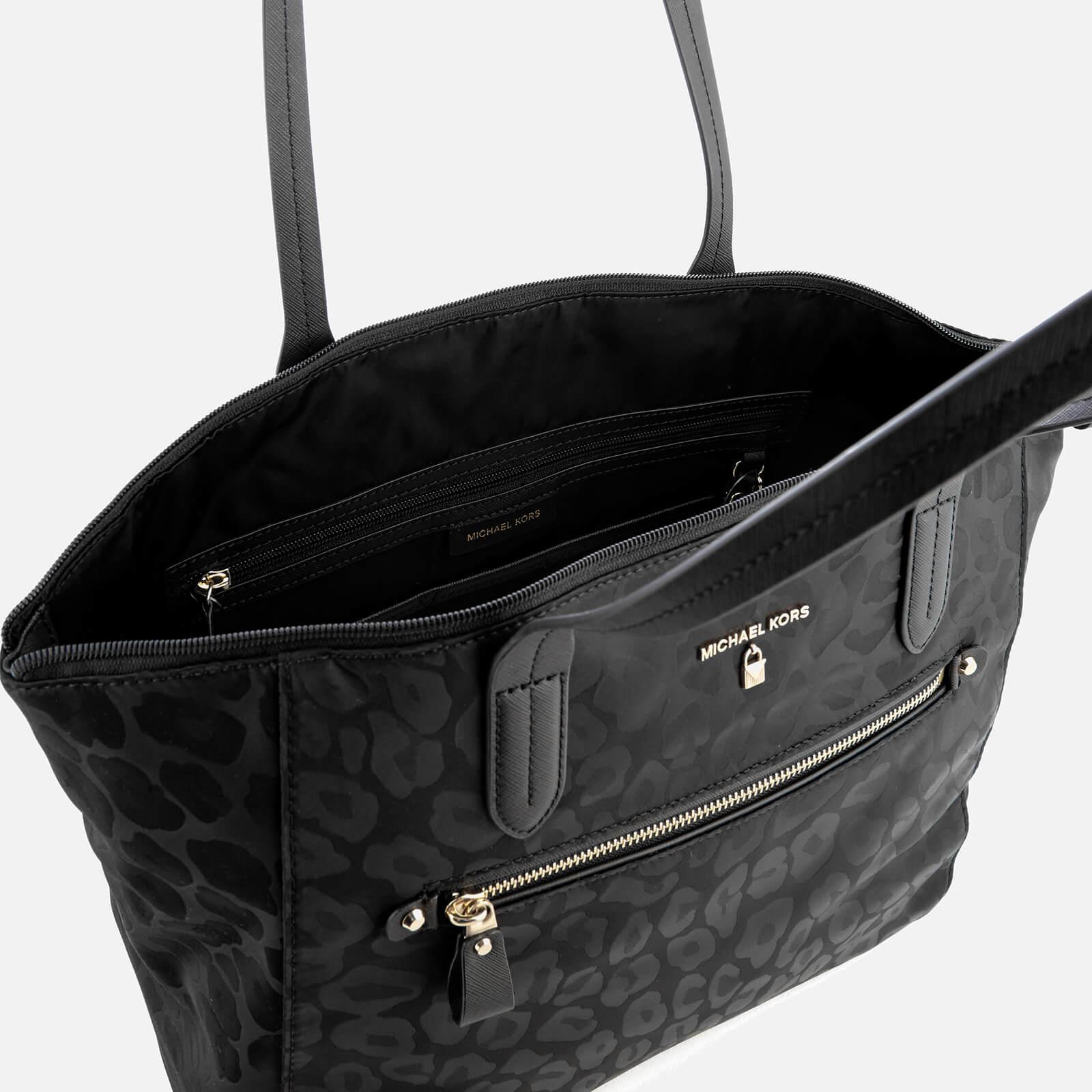 d9cacdabee89 Lyst - MICHAEL Michael Kors Kelsey Large Top Zip Tote Bag in Black
