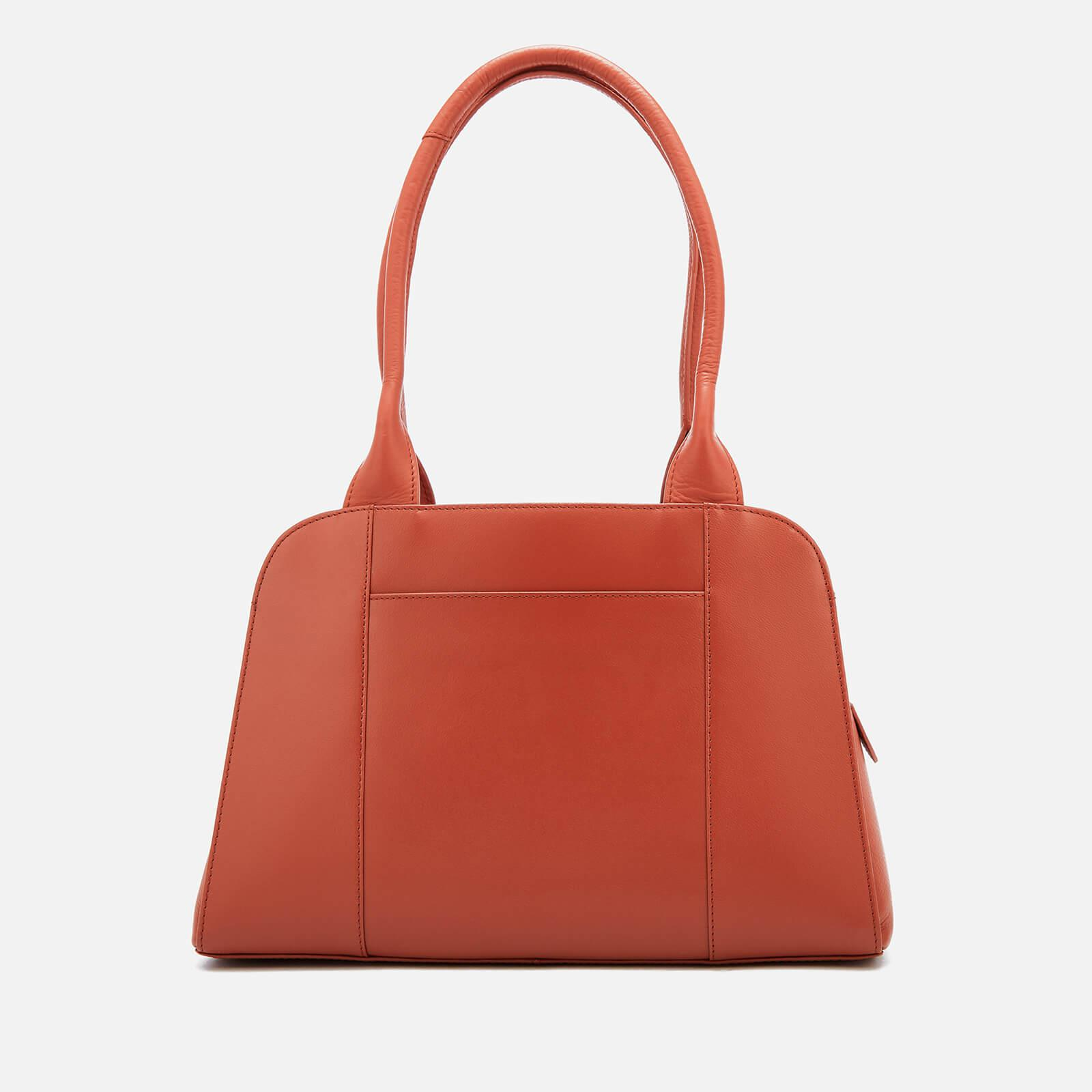 Radley Leather Millbank Medium Ziptop Tote Bag in Red