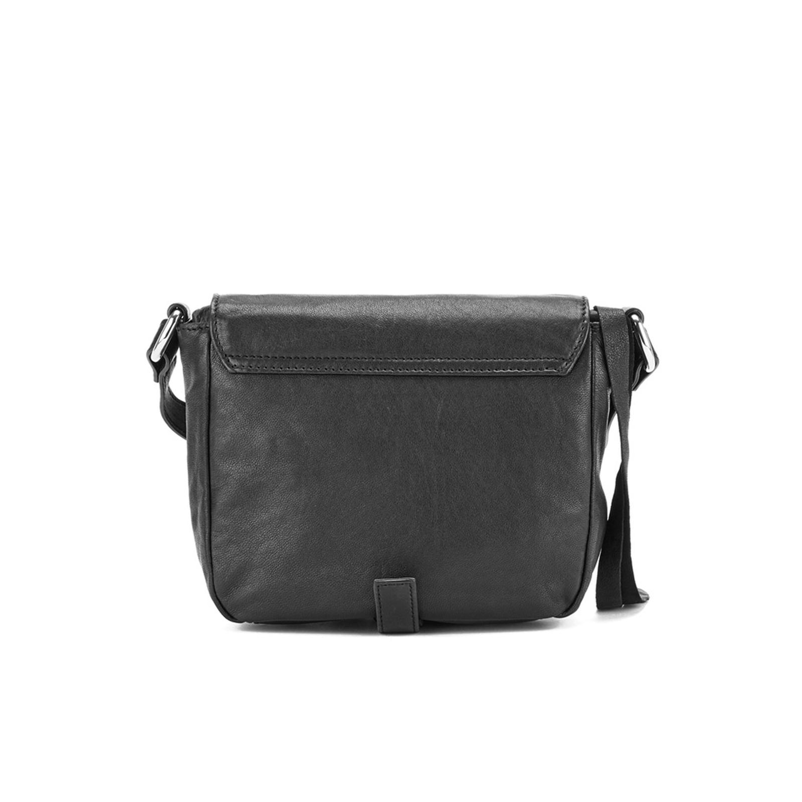 McQ Leather Loveless Mini Cross Body Bag in Black