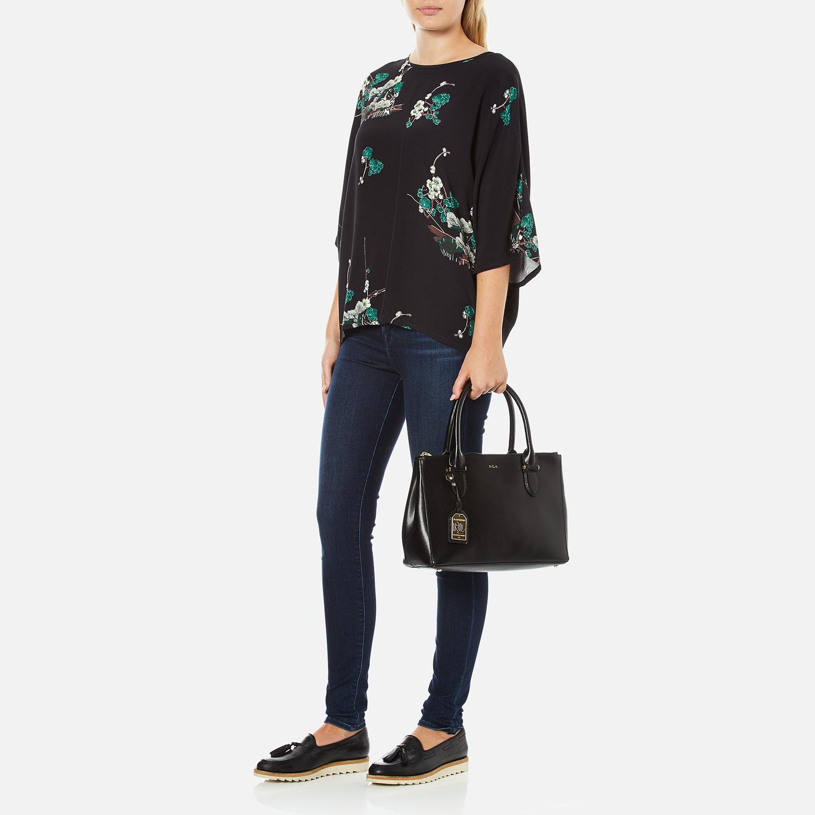 c37b09bac1 Lauren by Ralph Lauren - Black Newbury Double Zipper Shopper Bag - Lyst.  View fullscreen