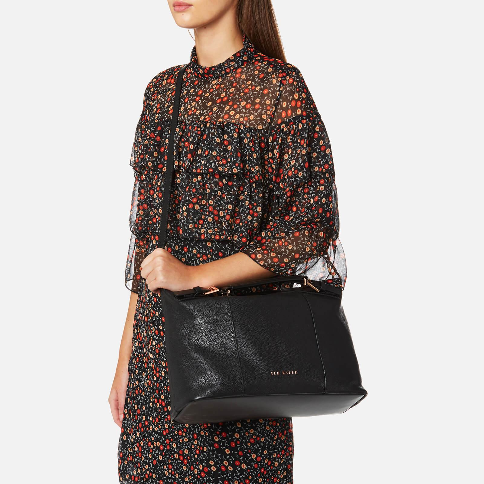 57210991eb Ted Baker Salbee Pop Handle Large Tote Bag in Black - Lyst