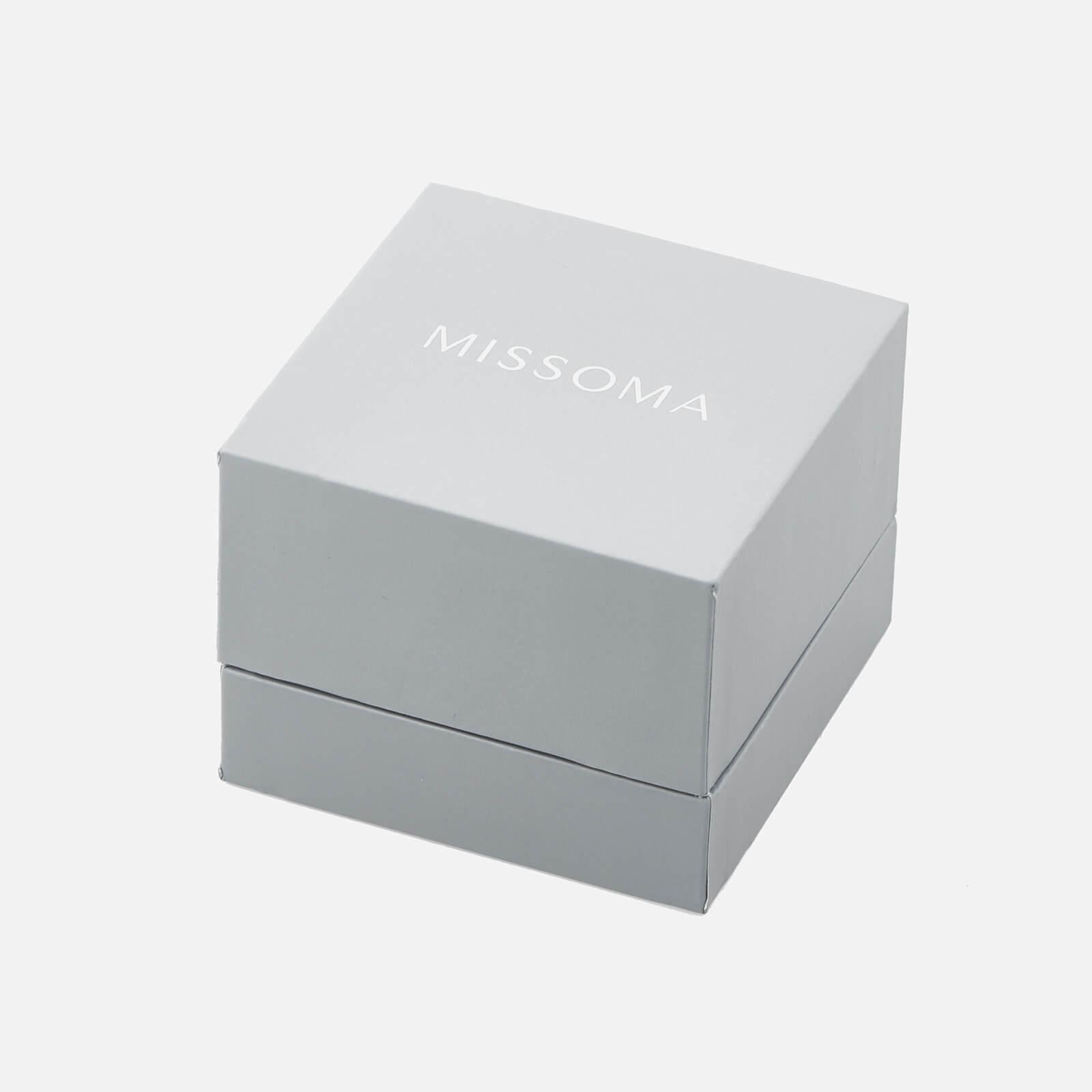 Missoma Silver Molten Mini Hoops in Metallic
