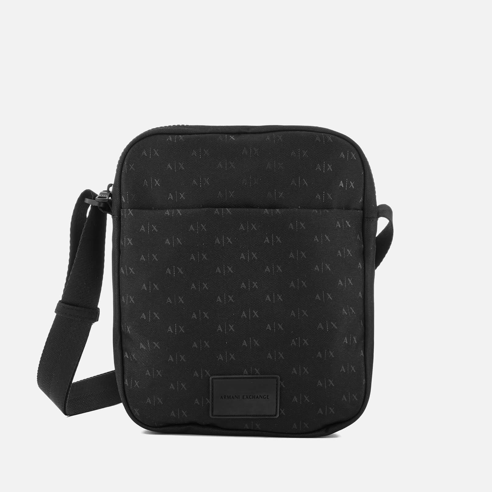 f2e26d5a510 Armani Exchange Black Ax All Over Logo Cross Body Bag for men