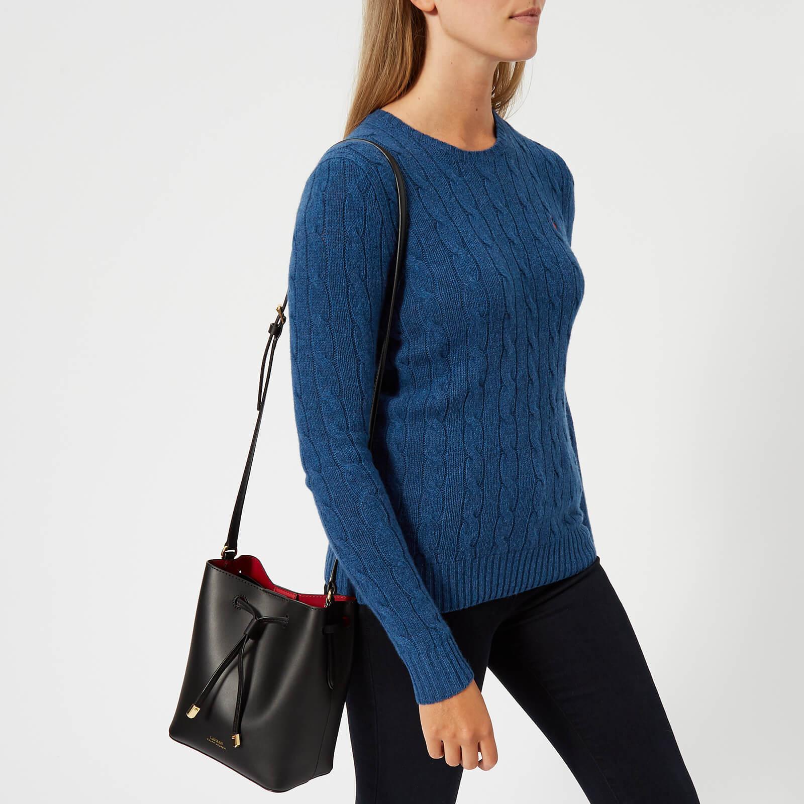 30d0d2b6fc Lauren by Ralph Lauren - Black Dryden Debby Ii Drawstring Mini Bag - Lyst.  View fullscreen