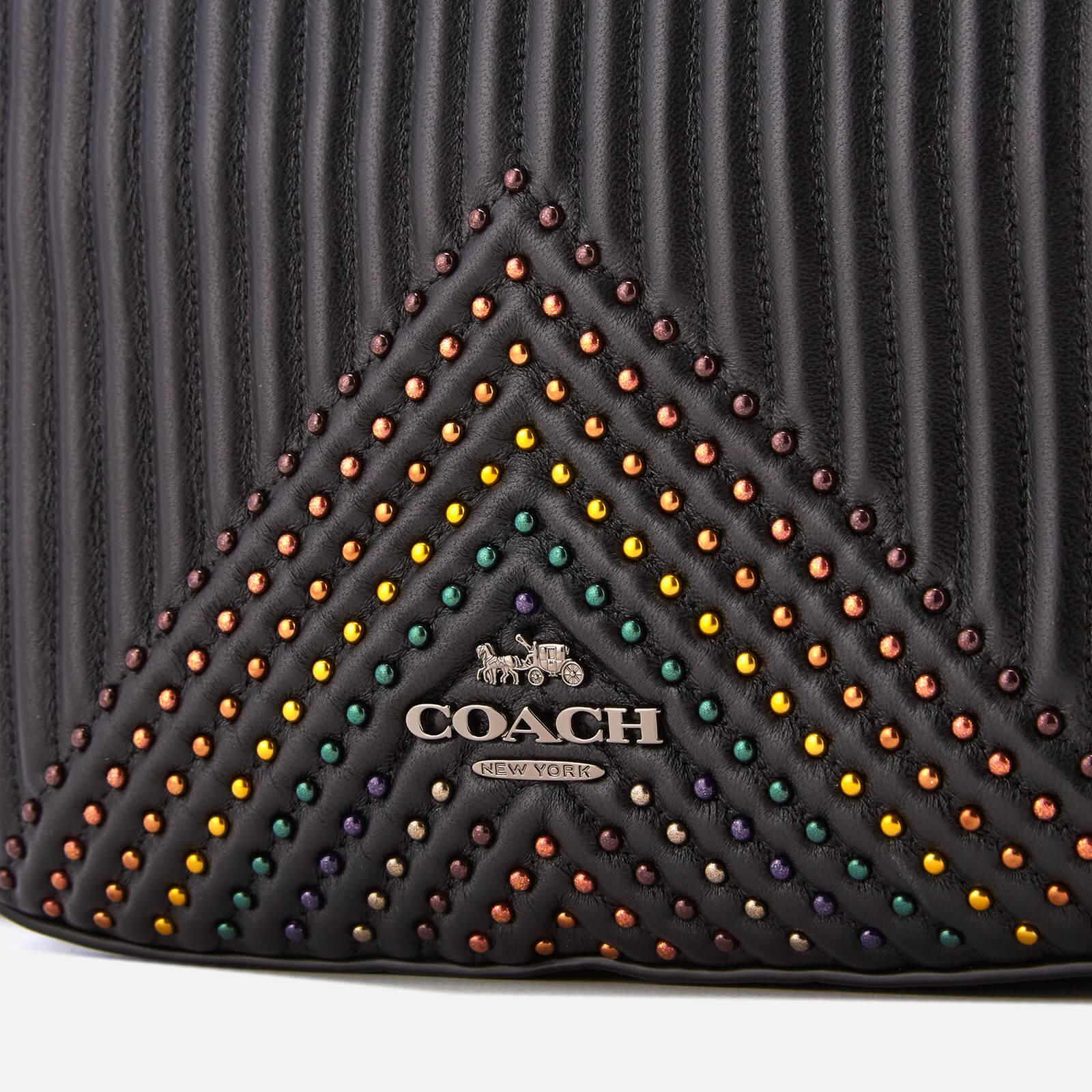 467eb4d165 Lyst - COACH Quilting With Rivets Camera Bag in Black