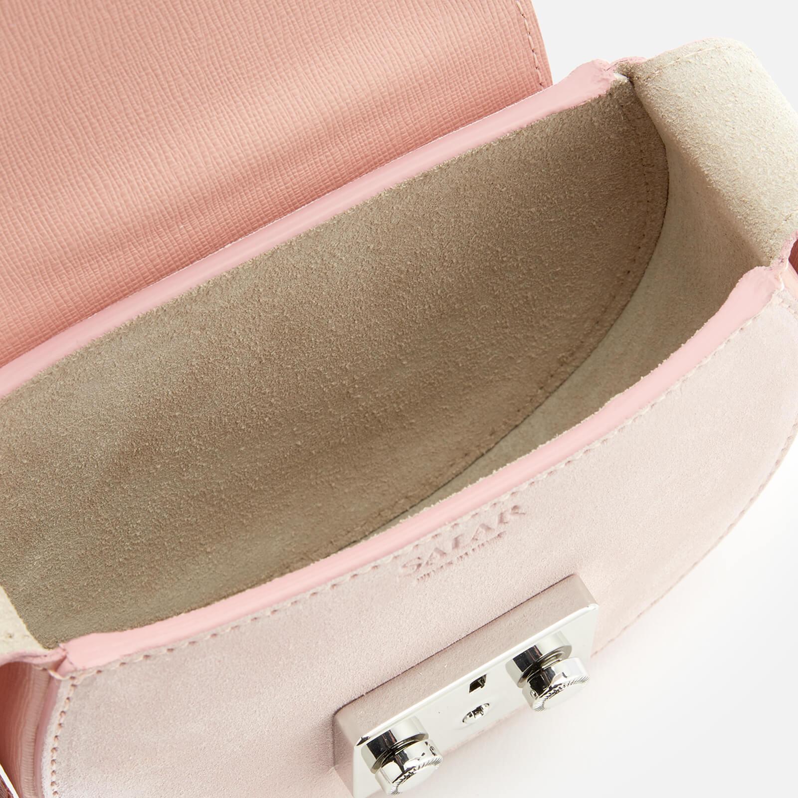 Salar Suede Carol Cross Body Bag in Pink