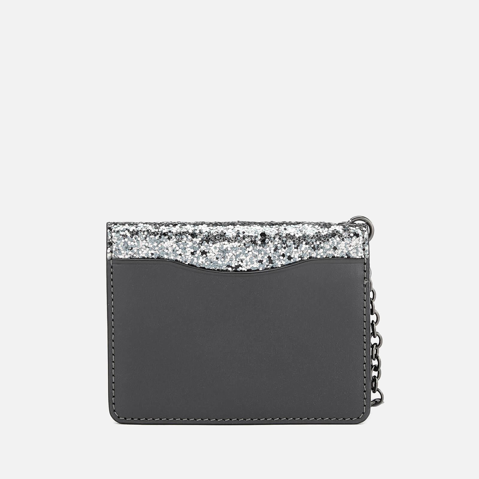 18c0576f32 COACH Glitter Key Ring Card Case in Metallic - Lyst