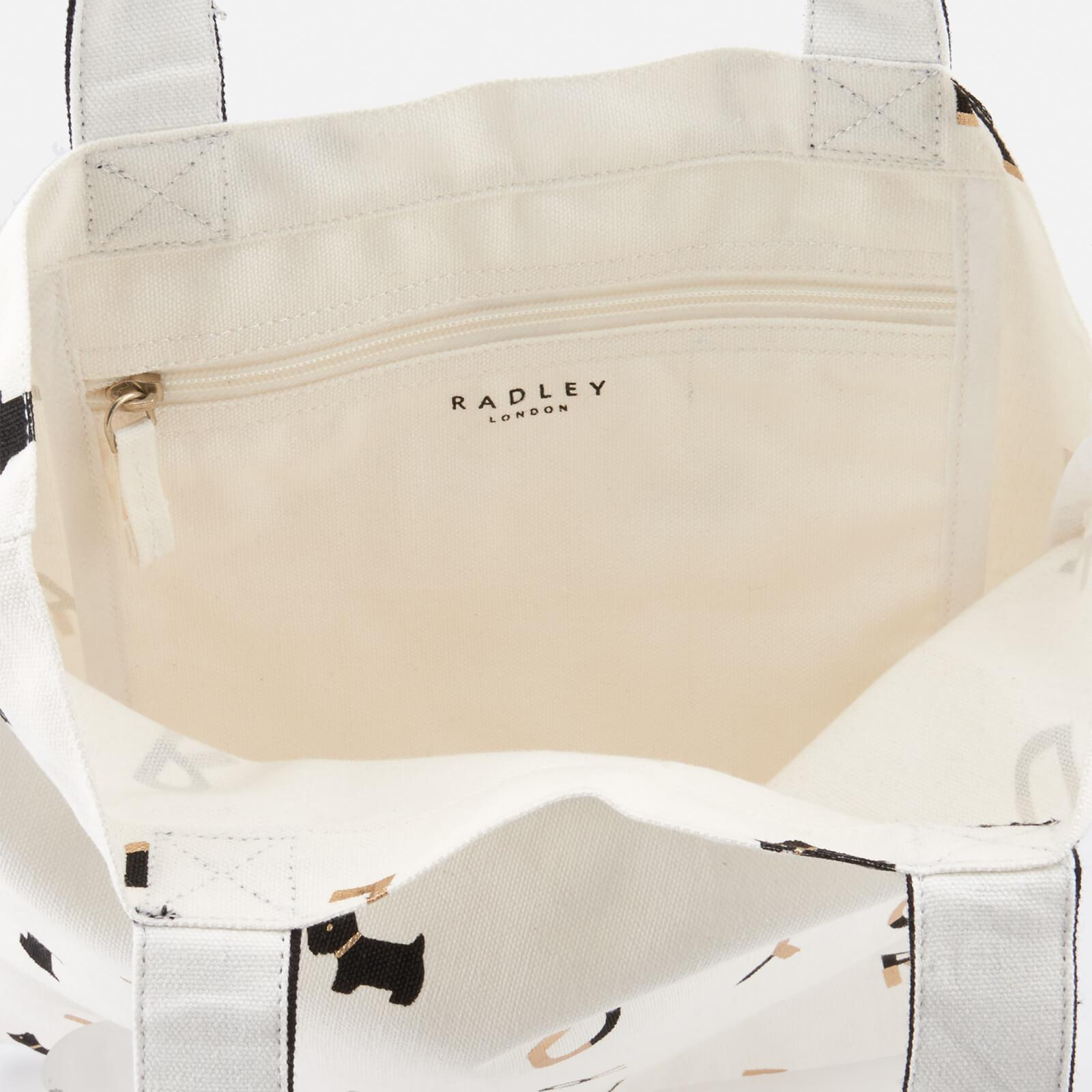 Radley Canvas All That Glitters Medium Tote Bag in White