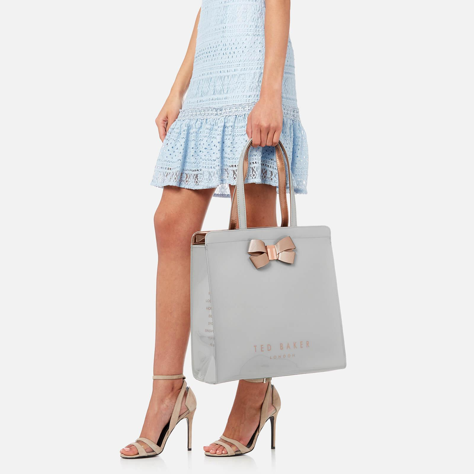 5f4450ab5418 Lyst - Ted Baker Vallcon Bow Detail Large Icon Bag