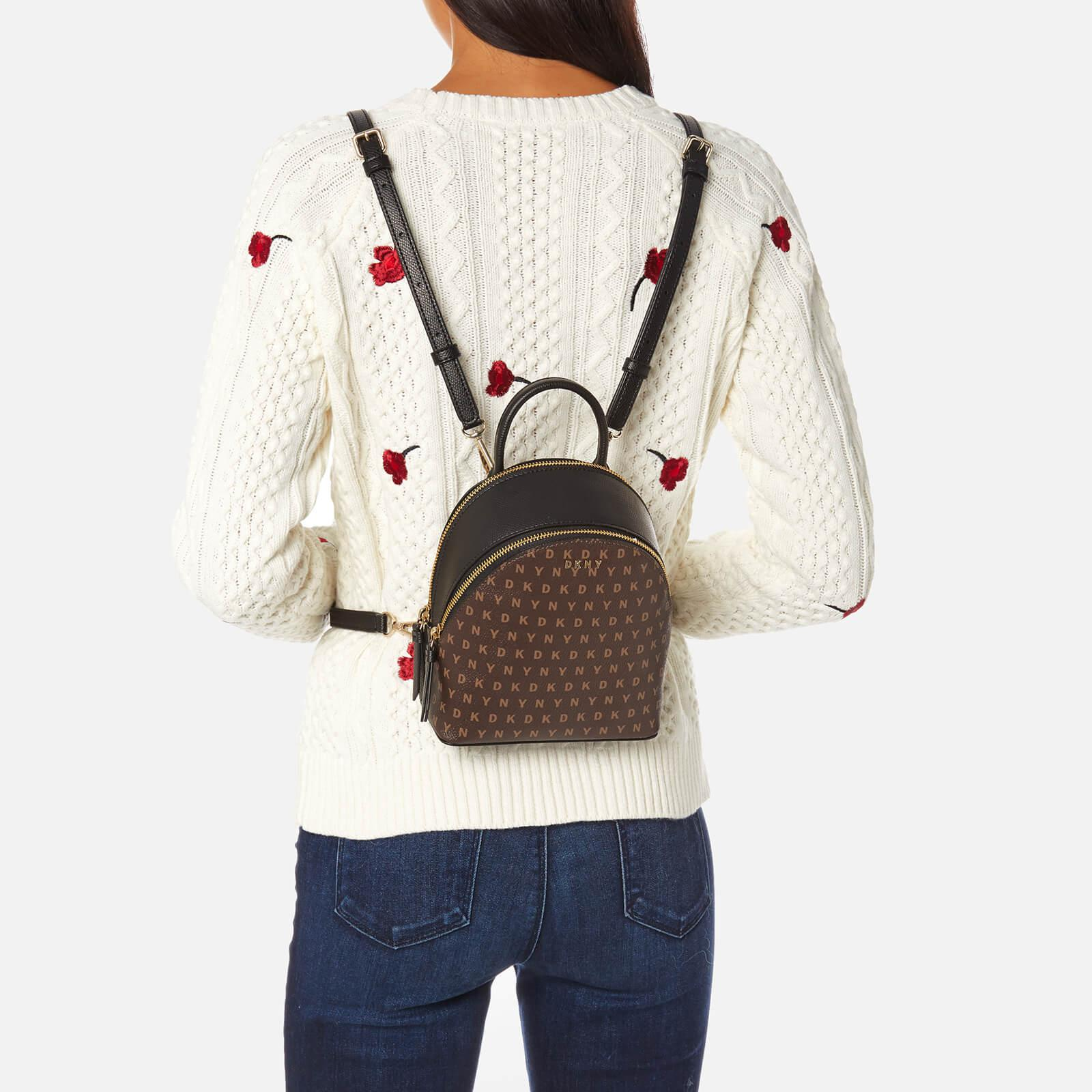 3656ad2556475 Lyst - DKNY Coated Logo Mini Backpack