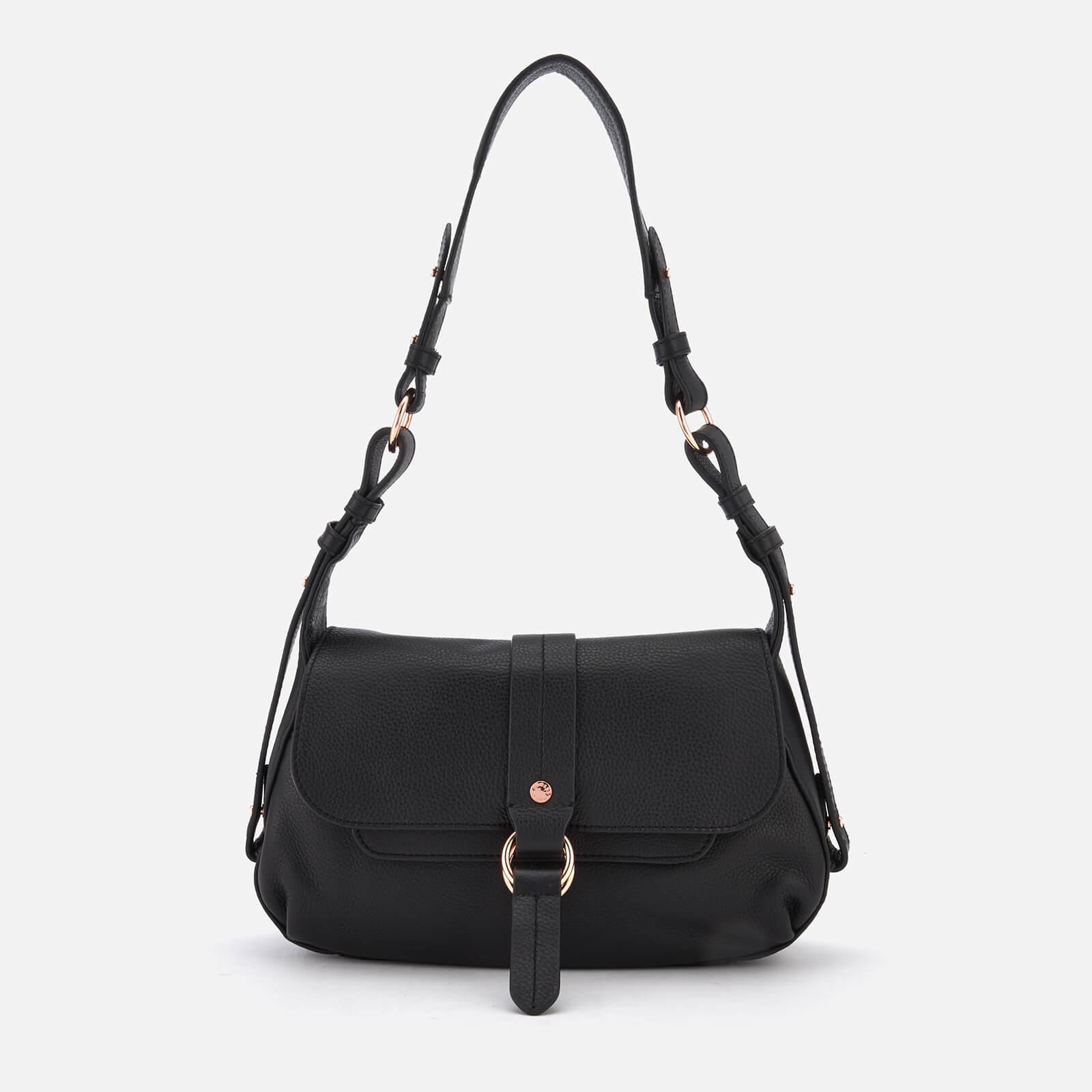 a2423e9c32fe Lyst - Radley Trinity Square Medium Flapover Shoulder Bag in Black