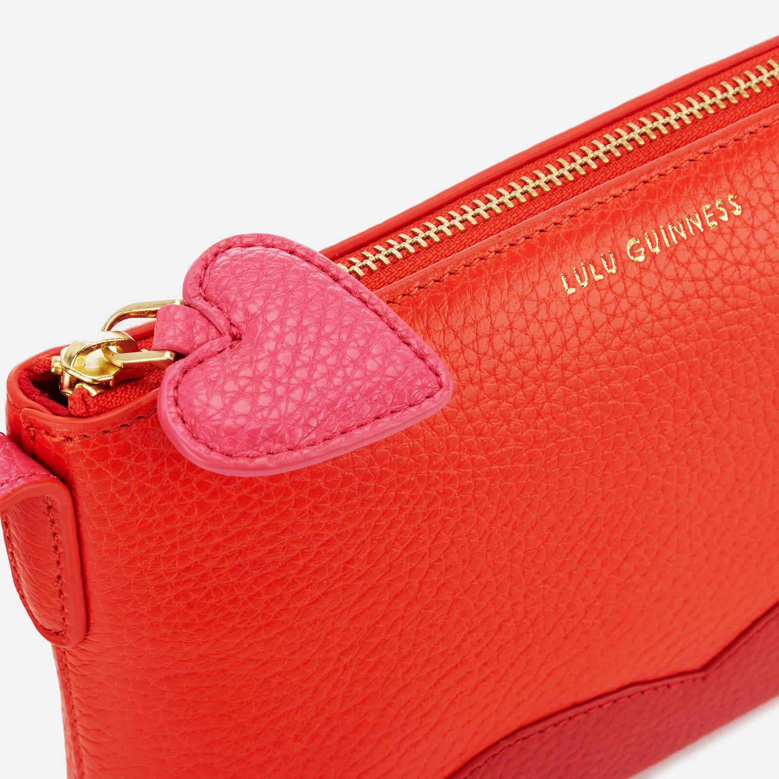 Lulu Guinness Leather Hearts And Lips Marie Cross Body Bag in Red
