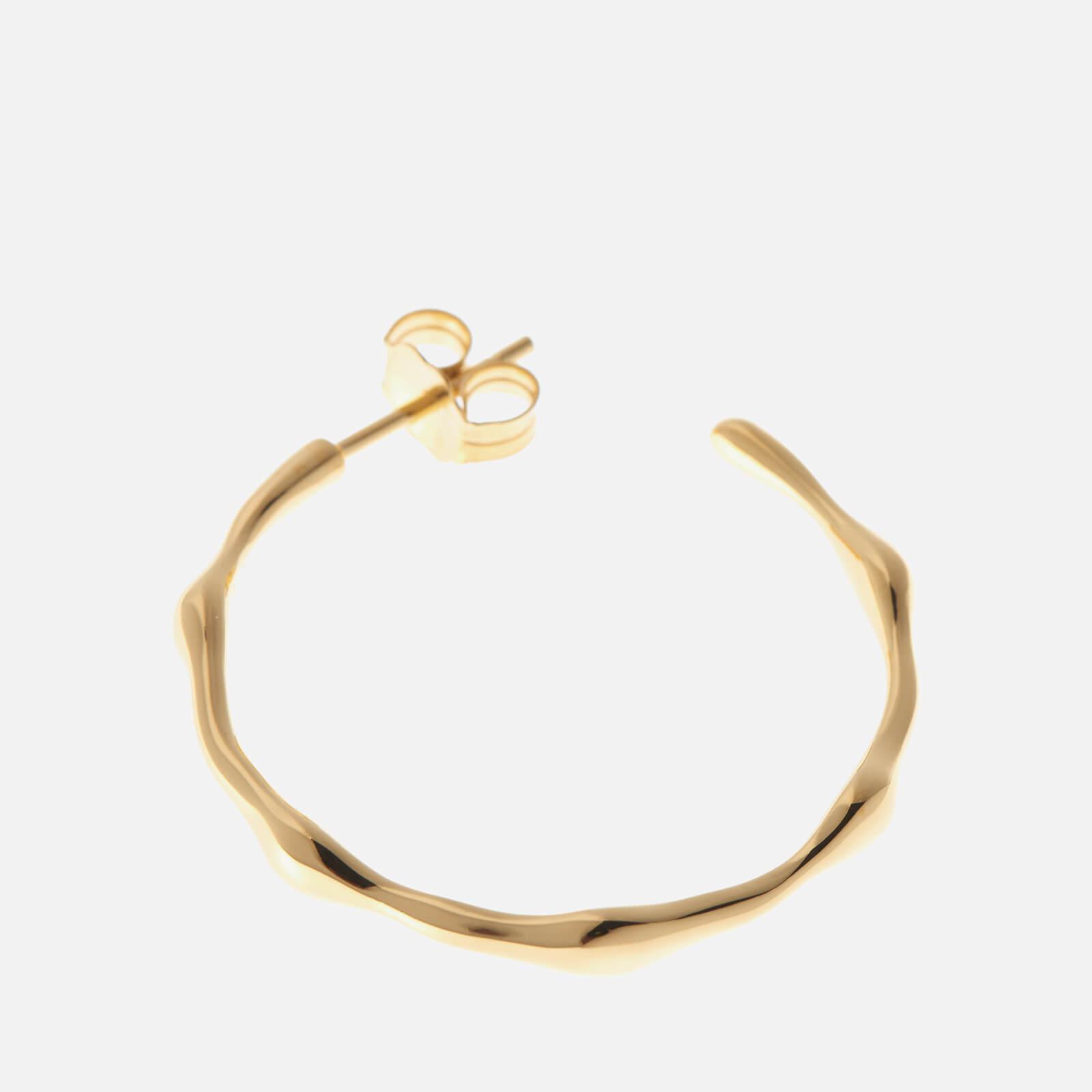 Missoma Gold Medium Molten Hoops in Metallic