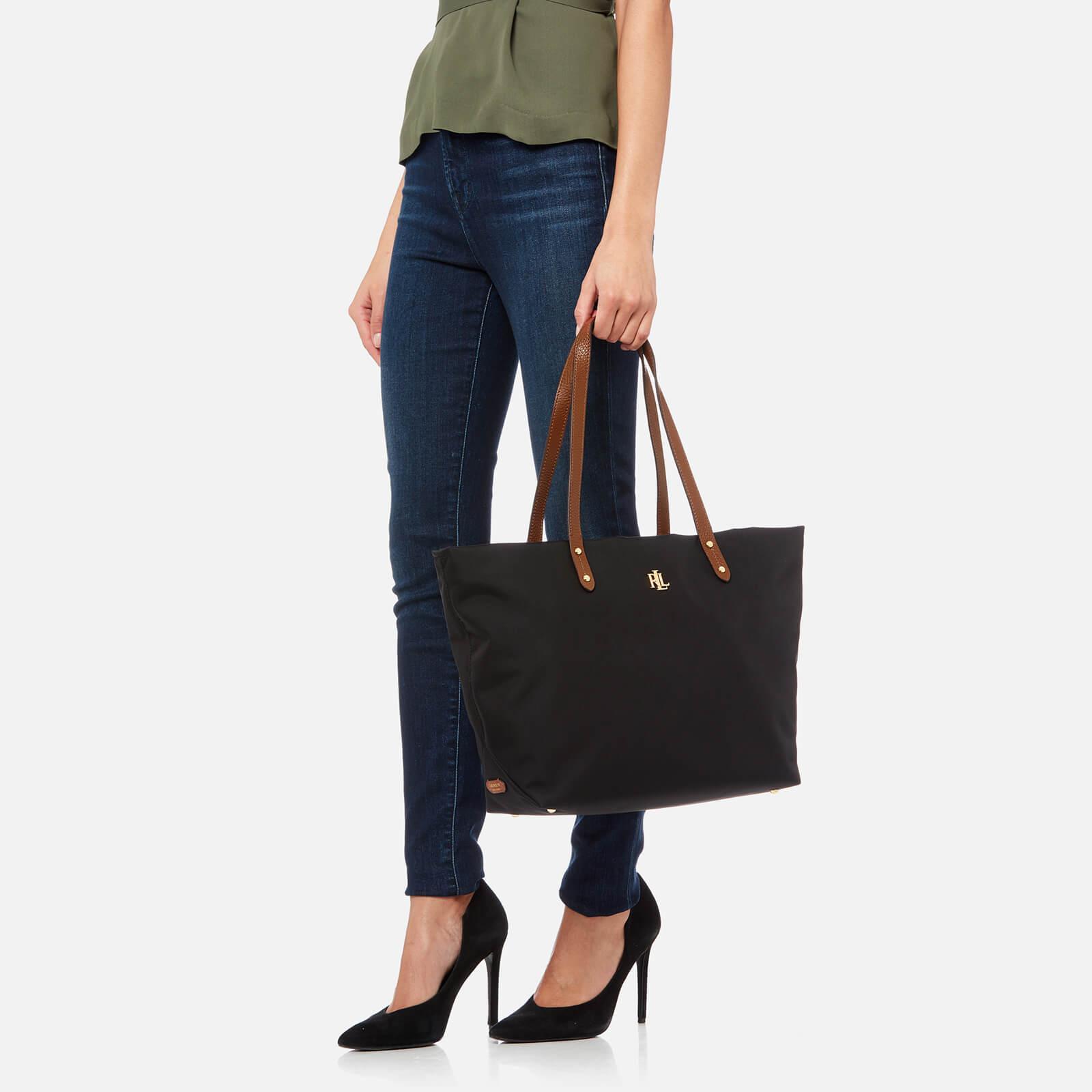 c7ce5c4fcb Lauren by Ralph Lauren Bainbridge Tote Bag in Black - Lyst