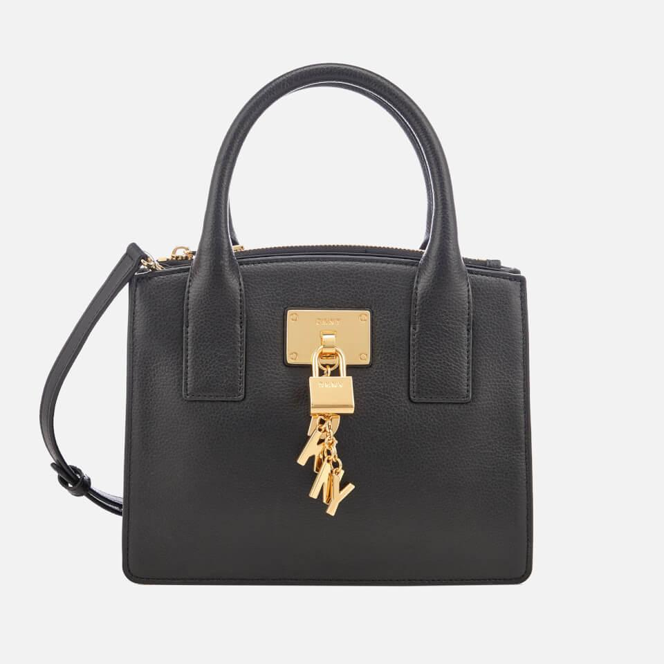 DKNY Leather Elissa Small Tote Bag in Black