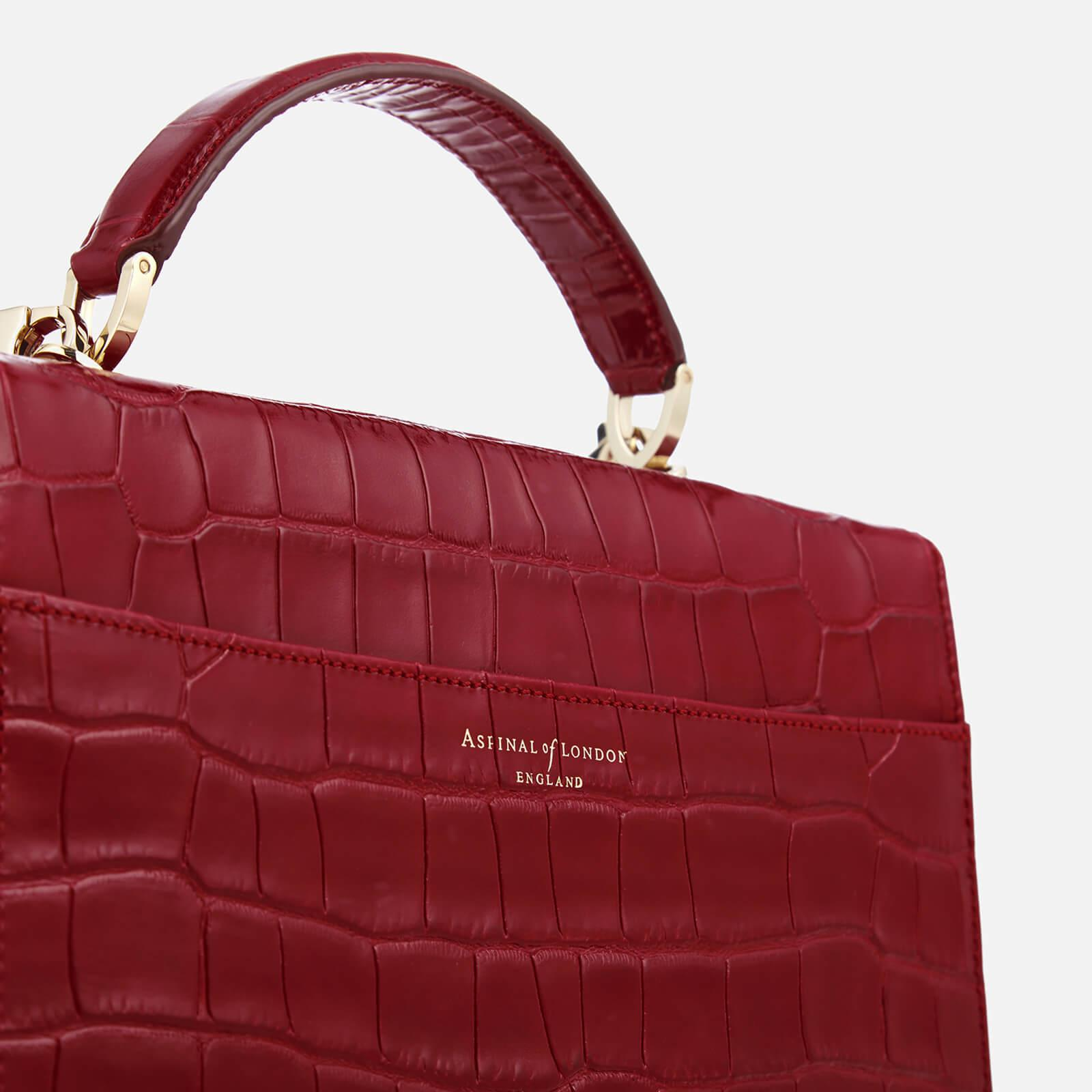 Aspinal of London Leather Mayfair Cross Body Bag in Red