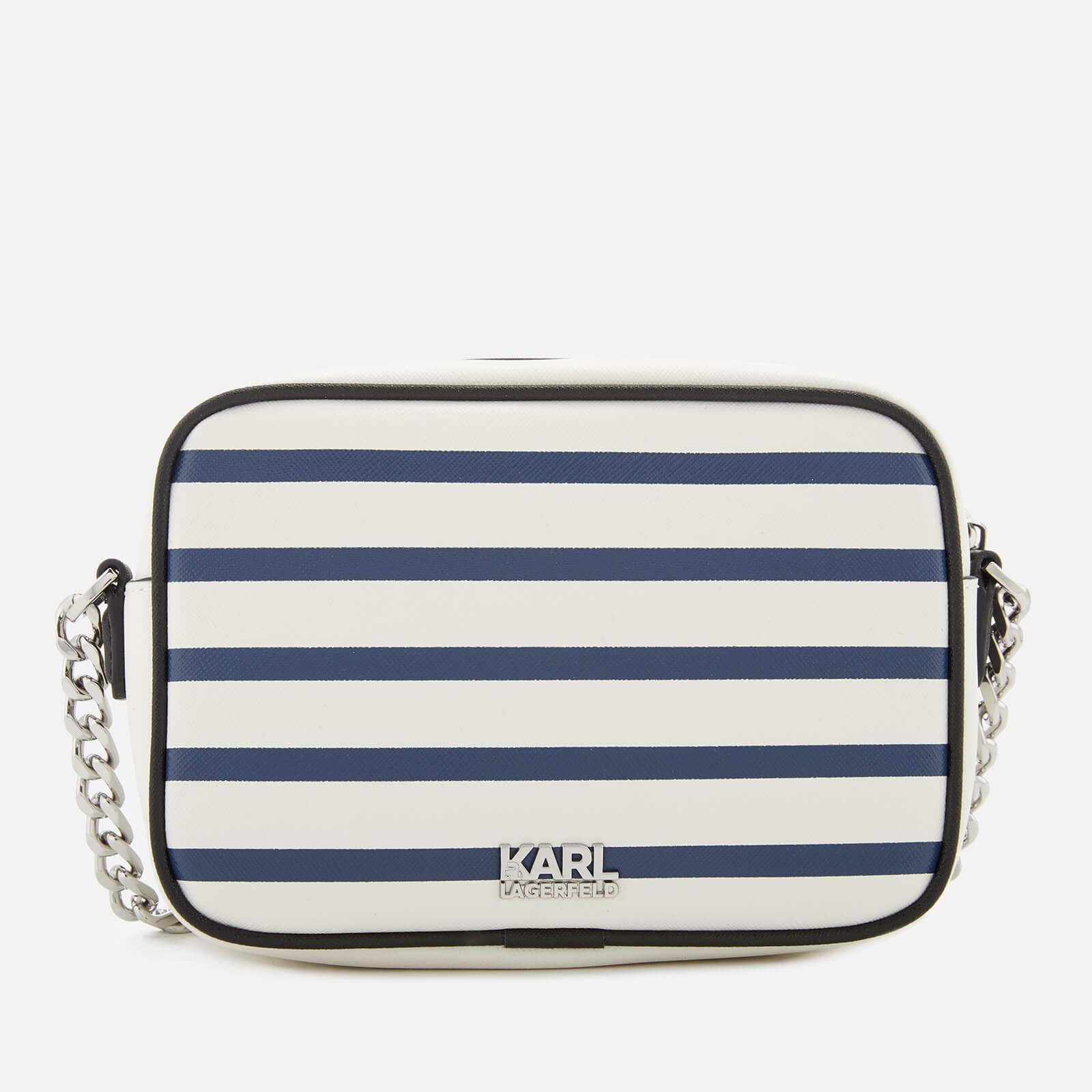 Karl Lagerfeld Leather Captain Karl Cross Body Bag