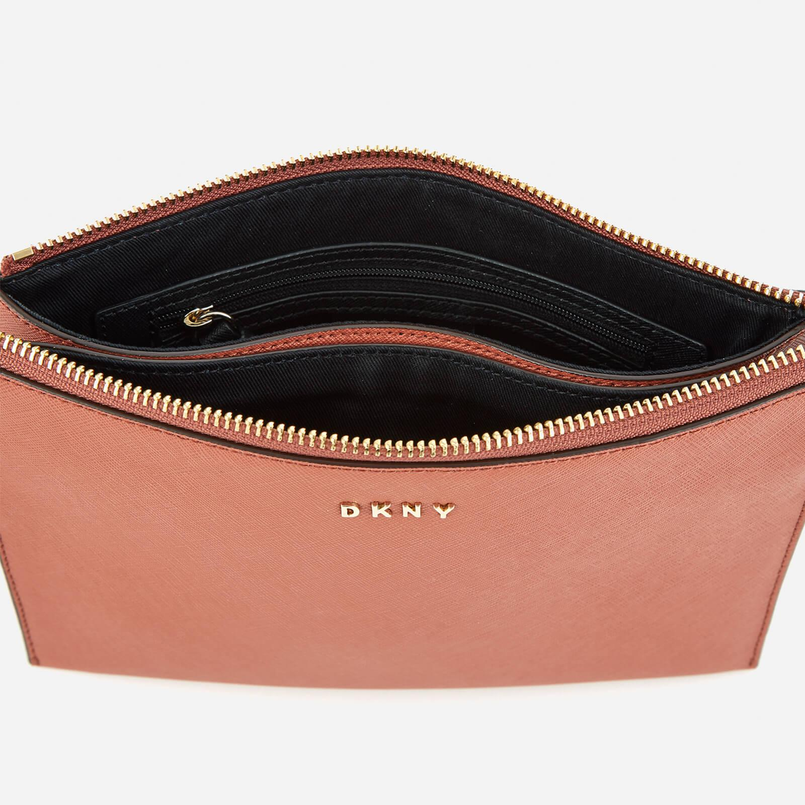 DKNY Leather Women's Bryant Park Flat Top Zip Cross Body Bag