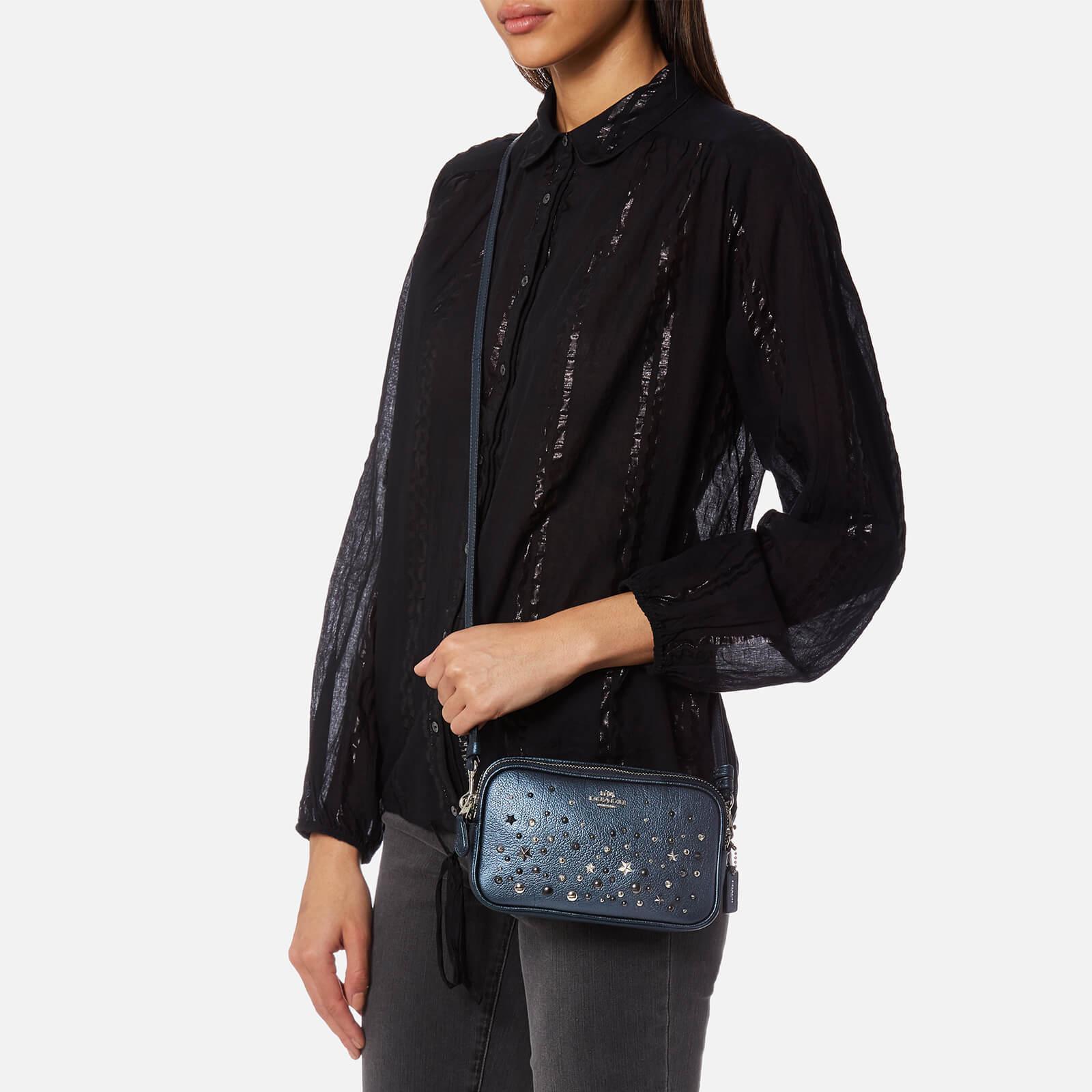 COACH Leather Star Rivet Cross Body Bag in Blue