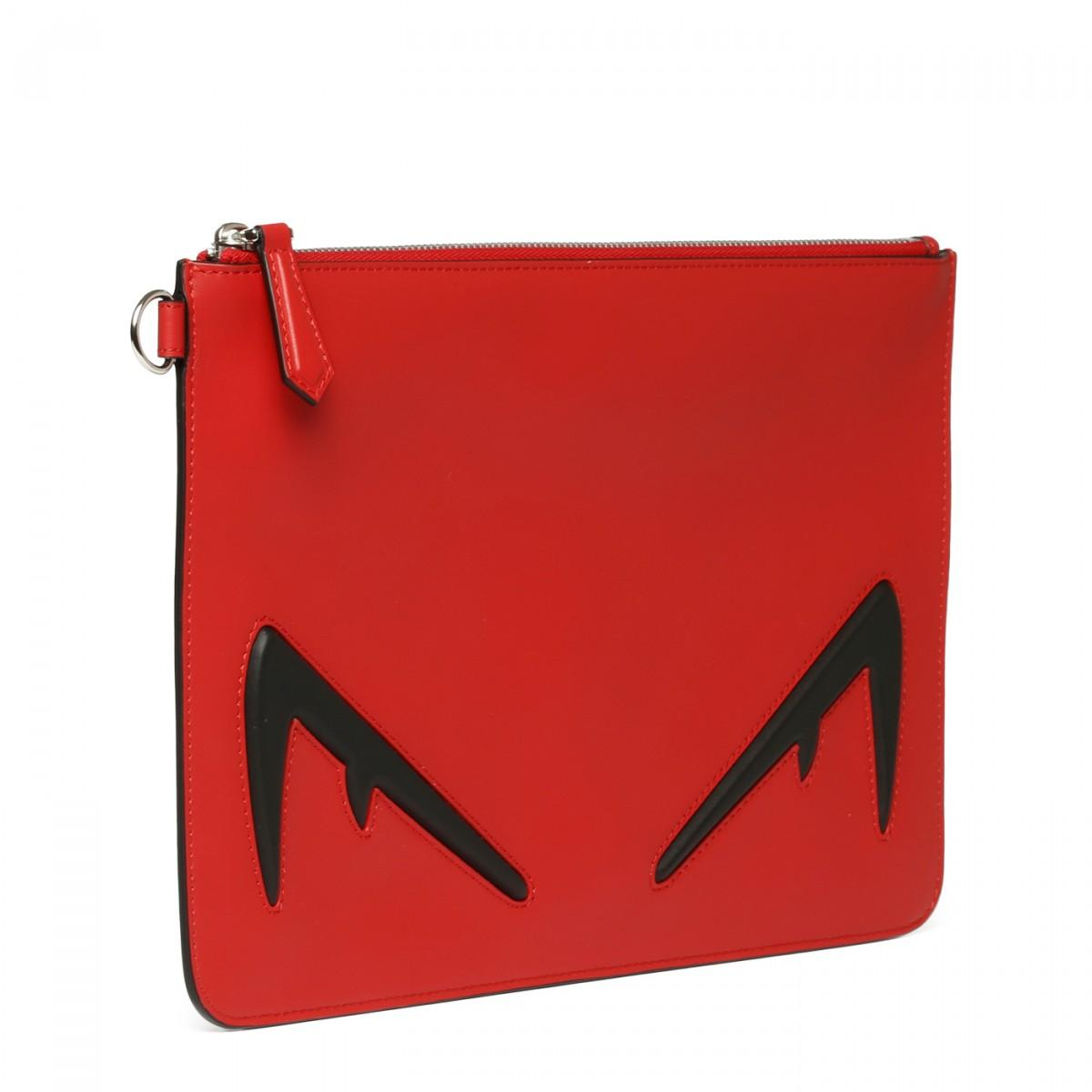 28a4838e Men's Red Eye Embellished Leather Purse