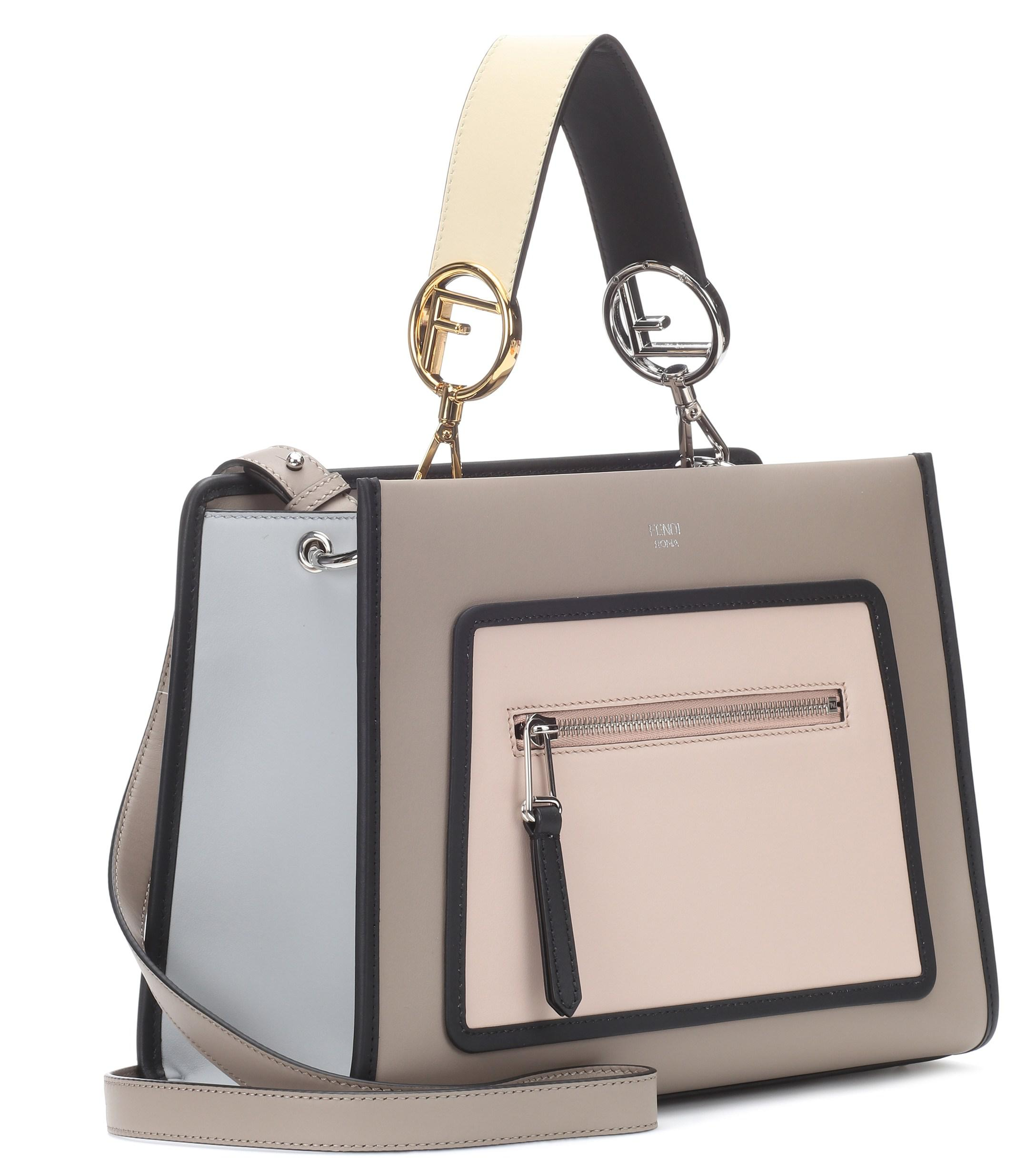 f631c10acbe Fendi Runway Small Leather Shoulder Bag - Lyst
