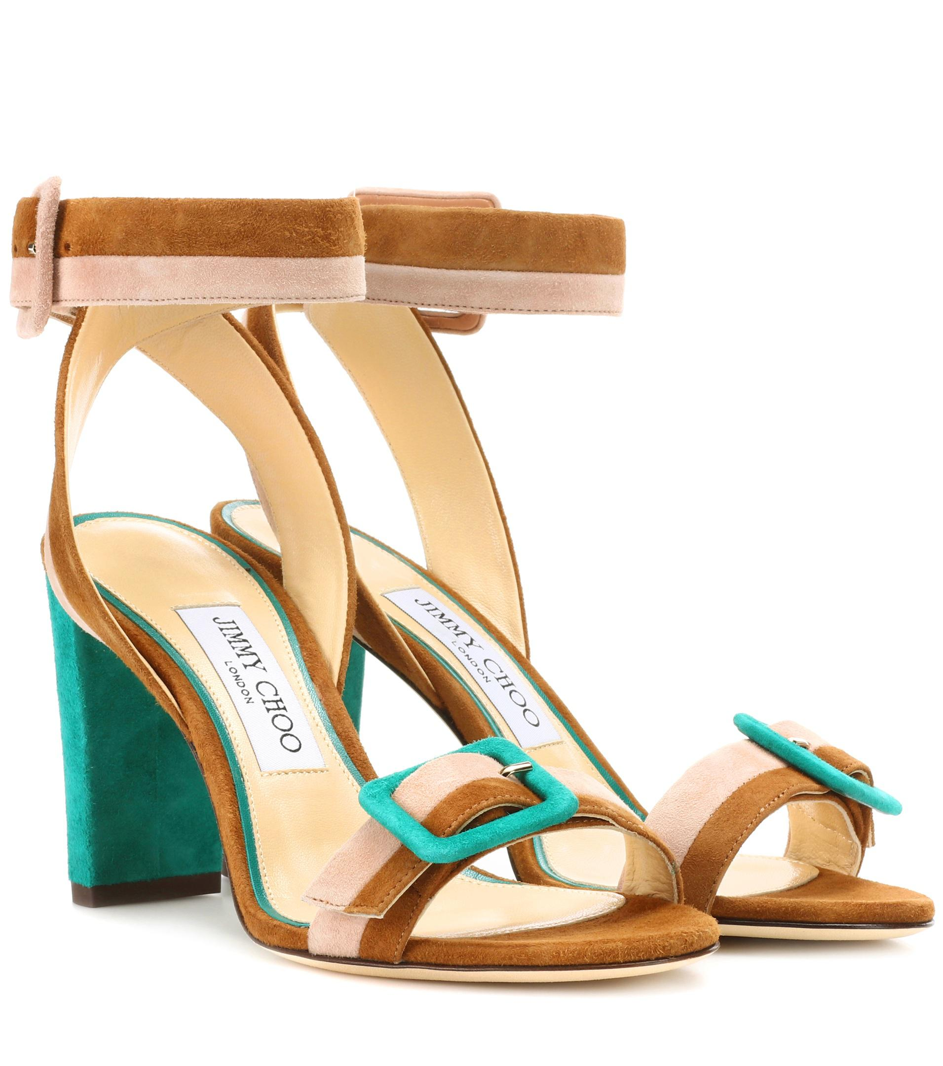 Dacha jeweled suede sandals Jimmy Choo London Outlet Largest Supplier Buy Cheap Newest sF9qUk