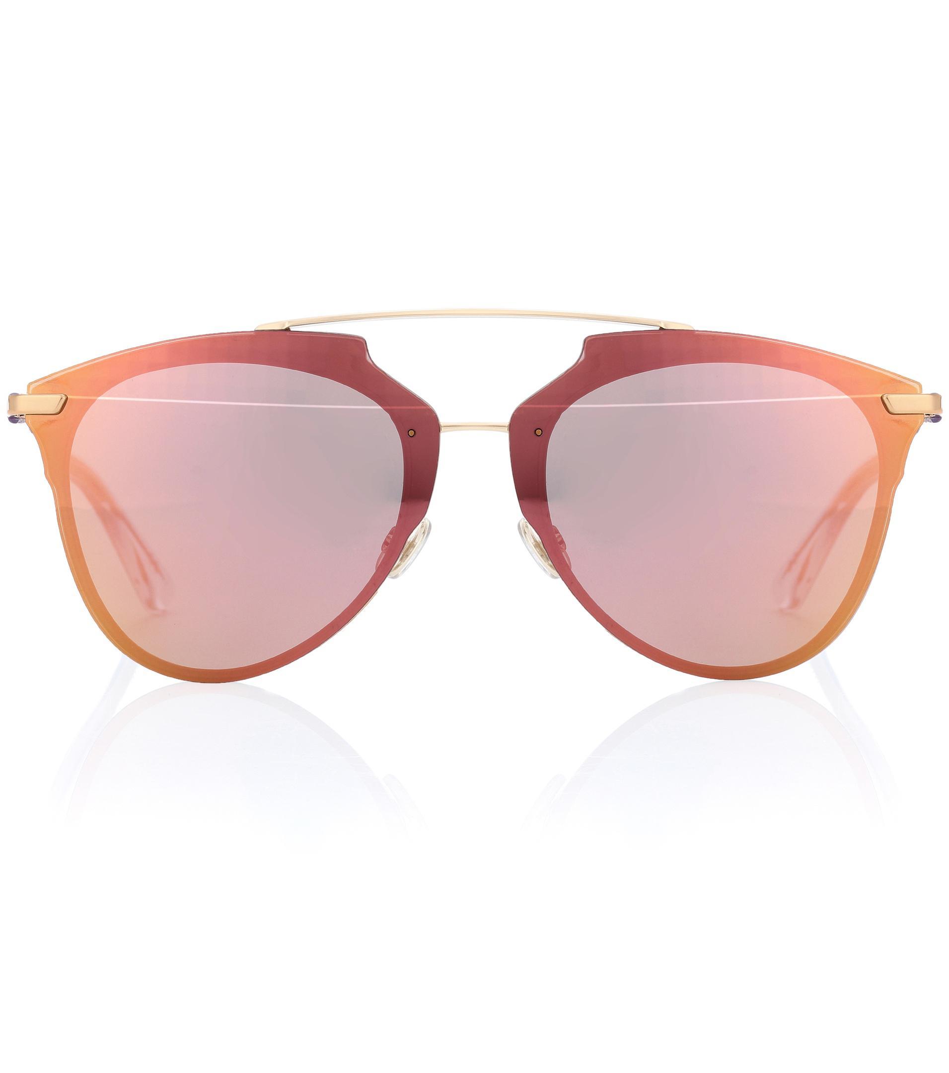 Lyst - Lunettes de soleil aviateur Dior Reflected Dior en coloris Rose 278b375d28b7