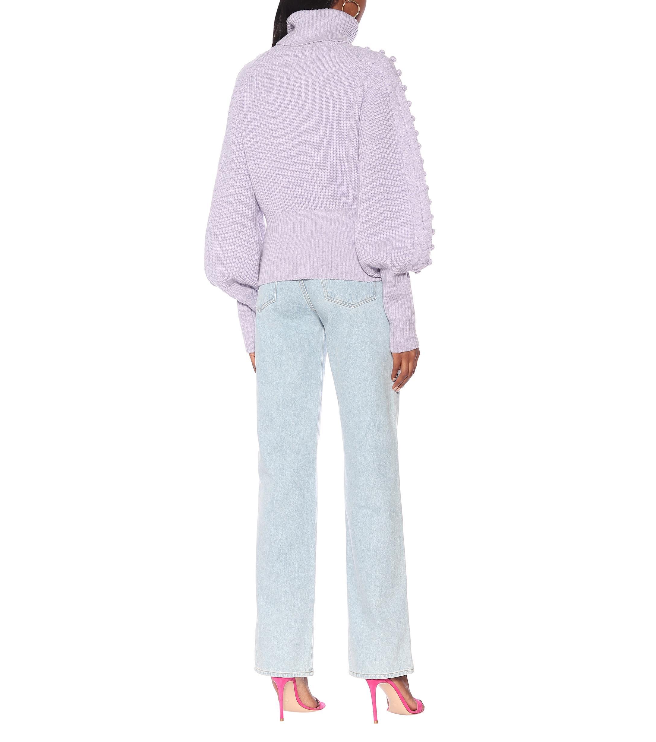 Pull en laine à col roulé Laines Temperley London en coloris Violet