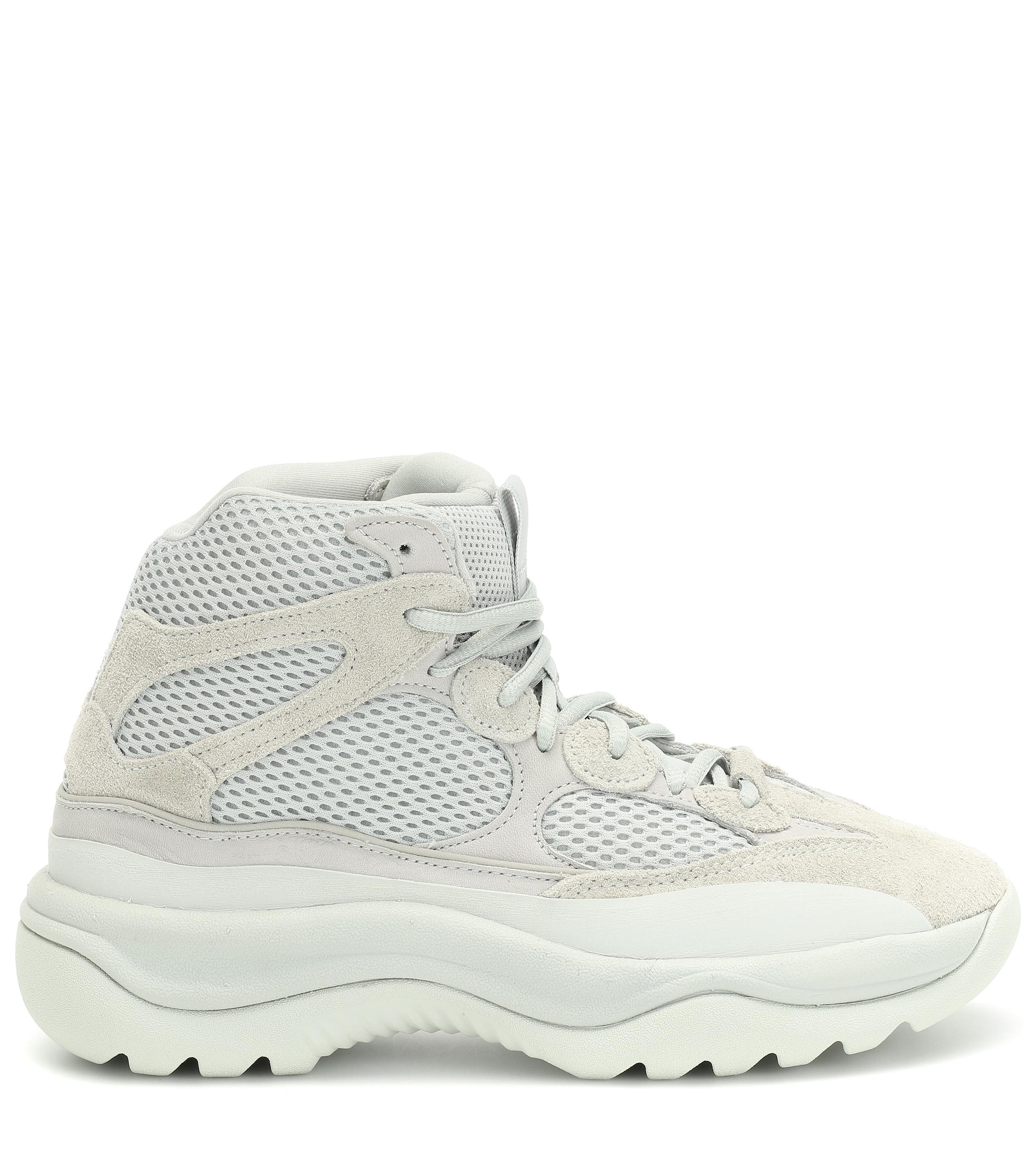 Baskets YZY DSRT BT Rock en cuir, daim et résille adidas Originals en coloris Gris  9N0N