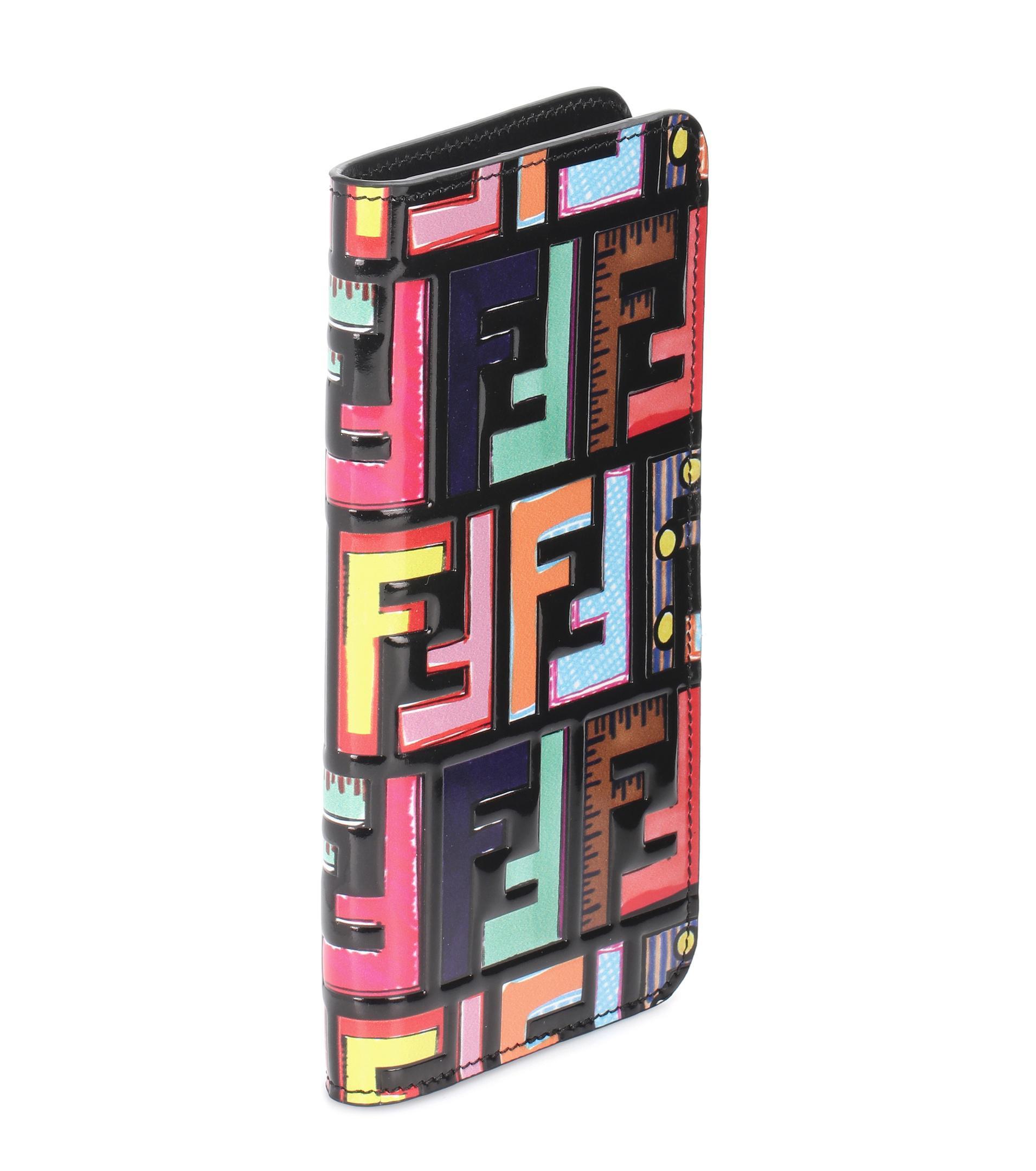 premium selection dd785 ef215 Fendi Multicolor Patent Leather Iphone 7 Plus Case