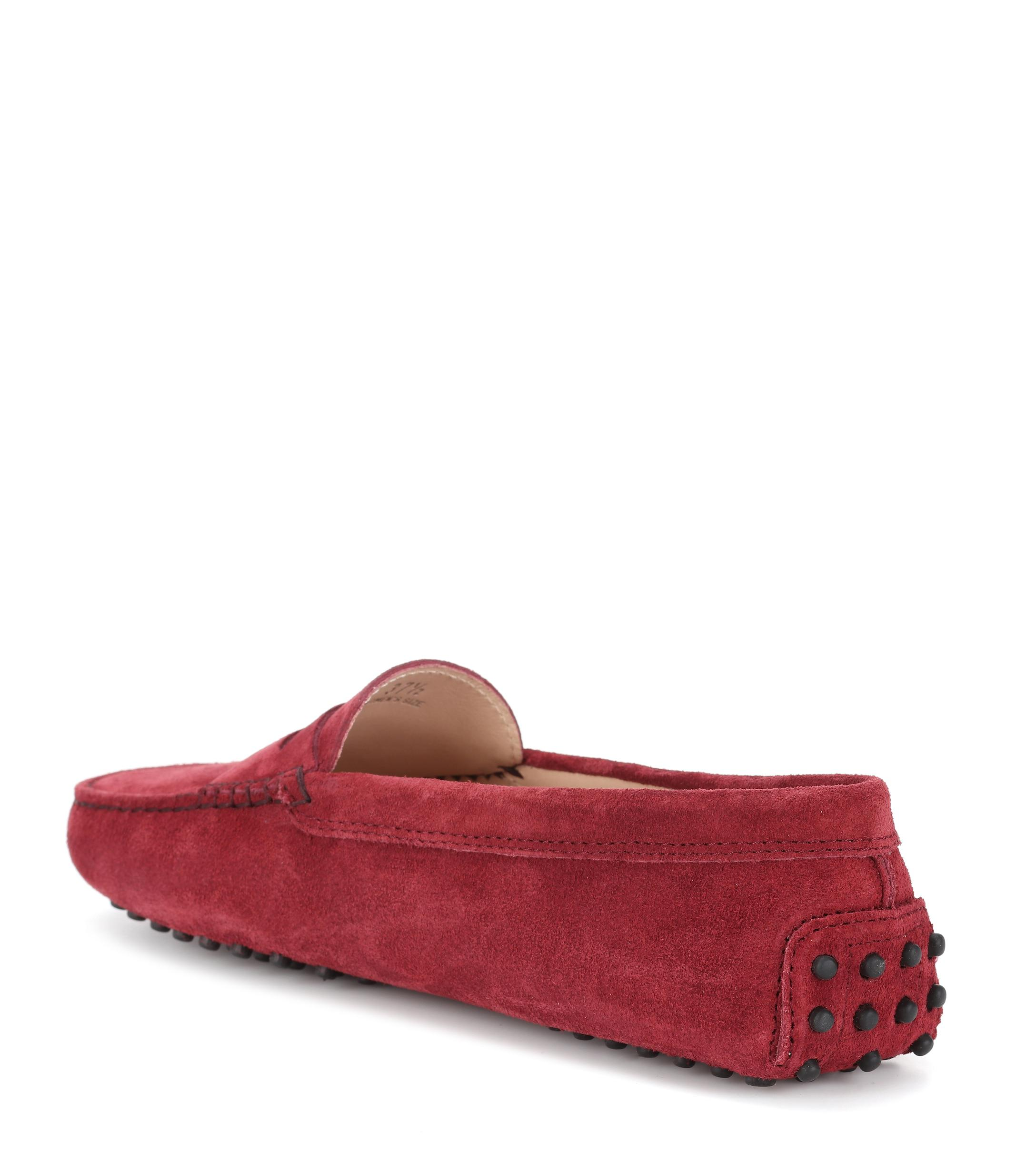 d92cfa45af6 Lyst - Tod s Gommino Suede Maschirina Loafers In Red Leather in Red