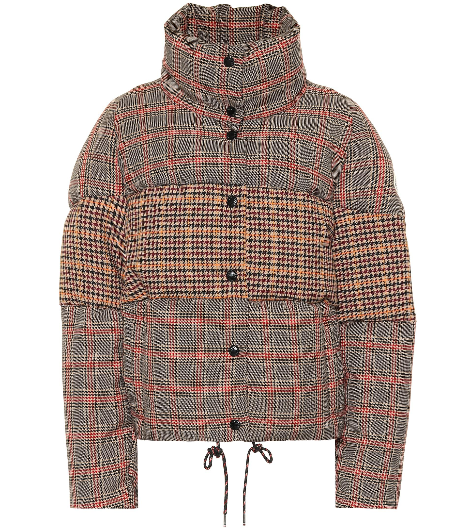 Wool Jacket Checked Checked Wool Down Blend 354ScARqjL