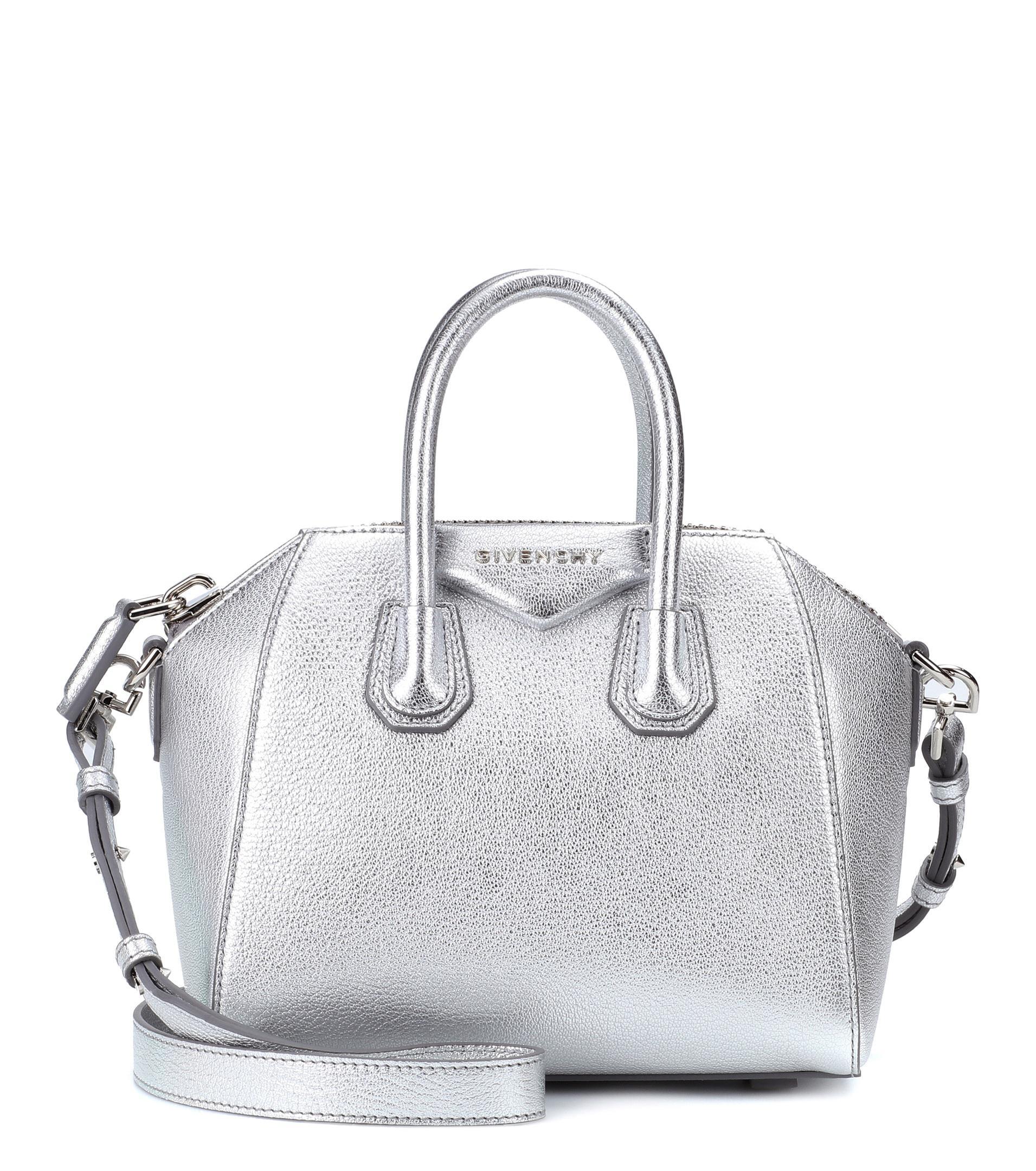 be8d40fbada Mini Metallic Läderväska Lyst Antigona Färg Givenchy vtwqdnaxg