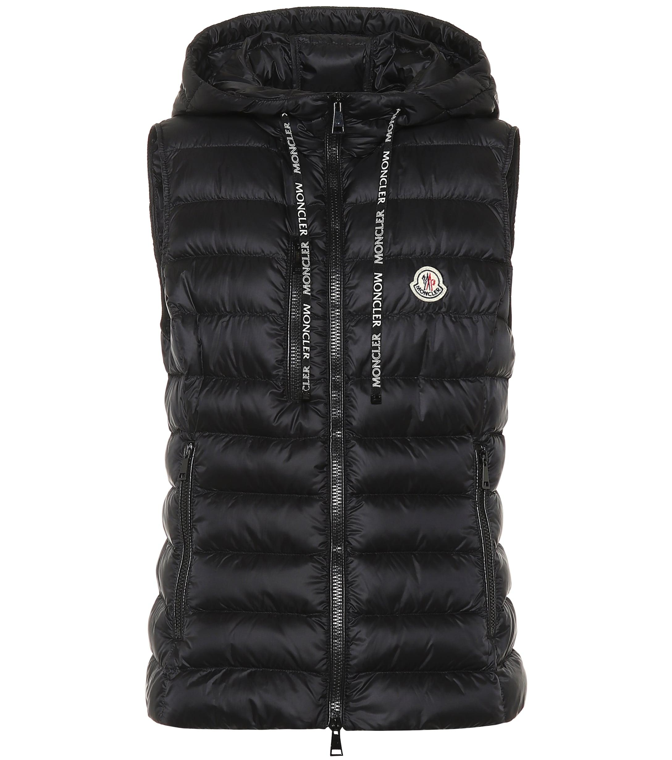 c9cae1b66 Moncler Sucrette Hooded Quilted Down Gilet in Black - Lyst