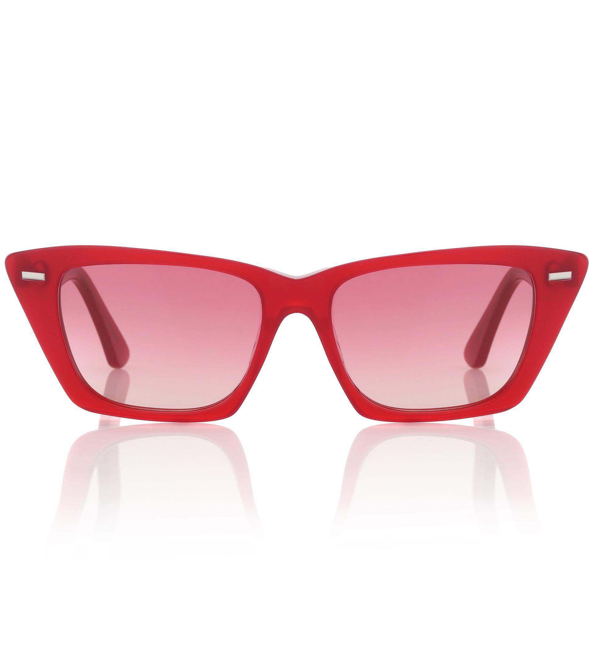 392991b264 Lyst - Acne Studios Ingrid Cat-eye Sunglasses in Red - Save 70%
