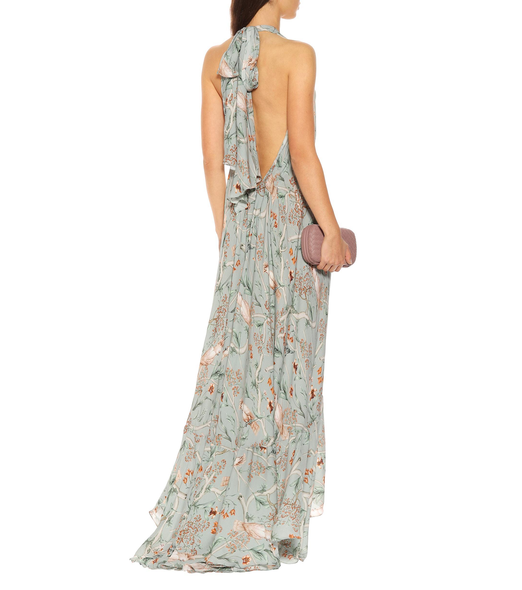 7a28f83a4c7 Johanna Ortiz Vanuatu Silk Georgette Dress in Green - Lyst
