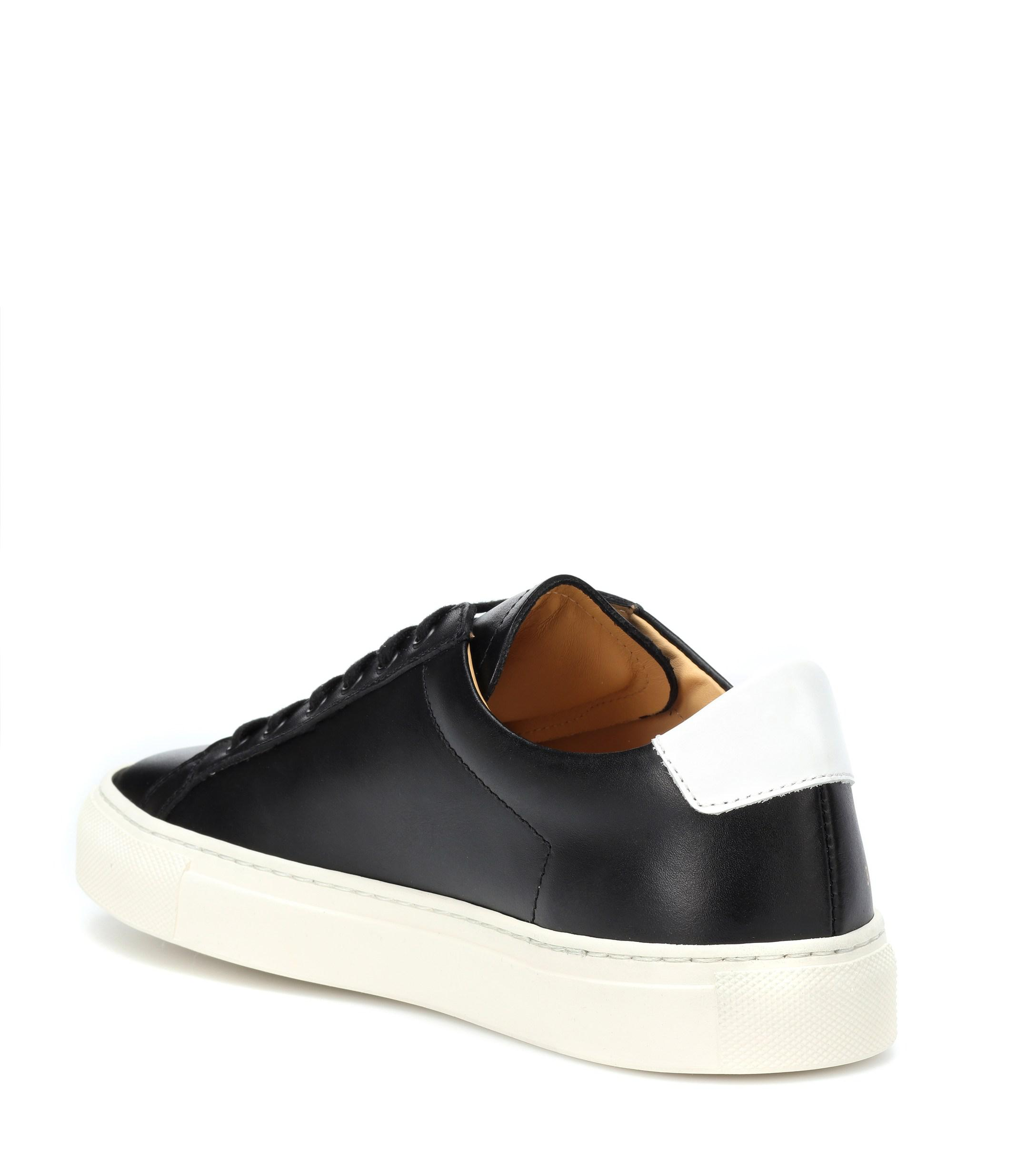 Common Projects Retro Leather Sneakers in Black