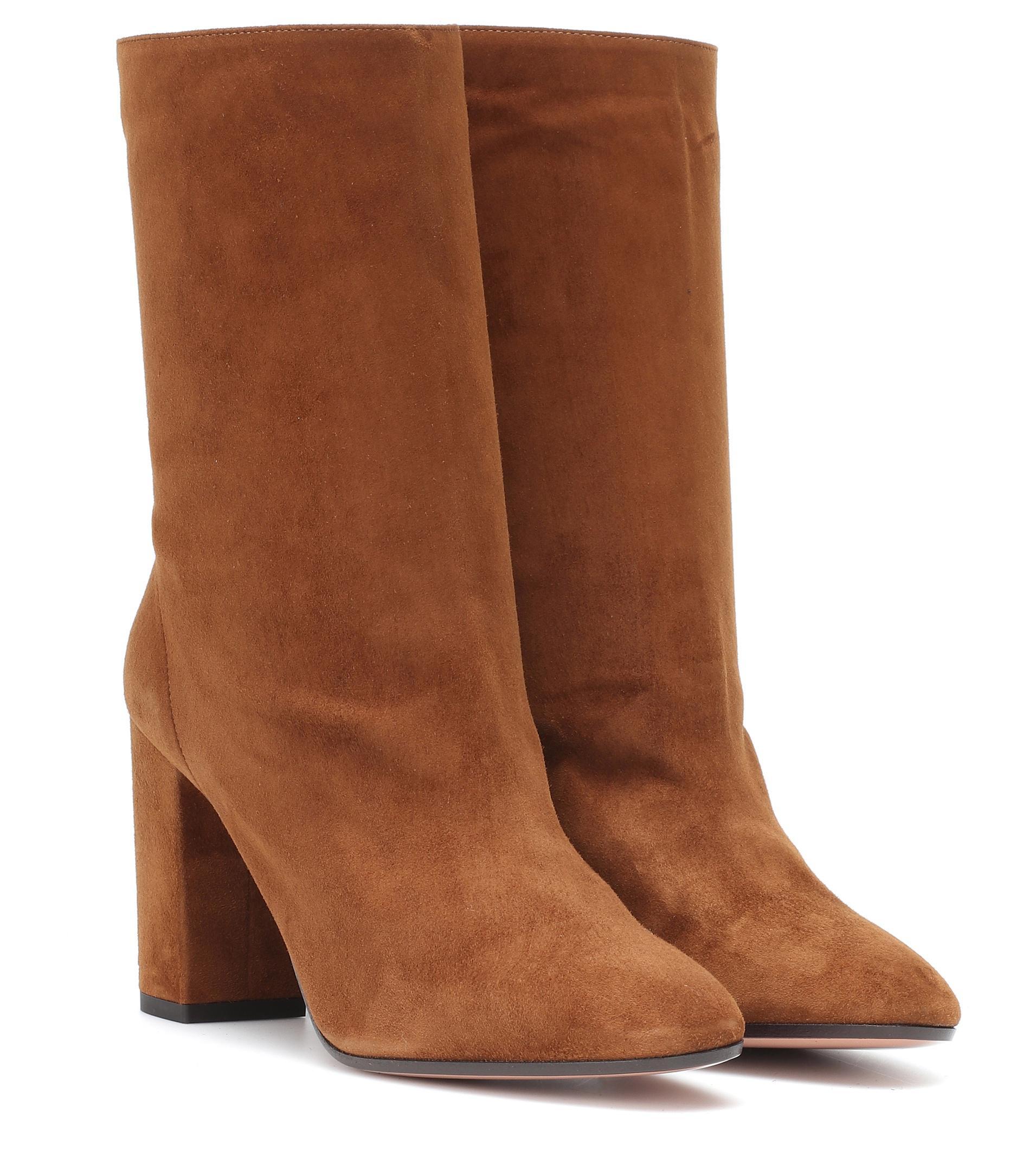 Lyst Aquazzura Ankle Boots Boogie 85 in Braun
