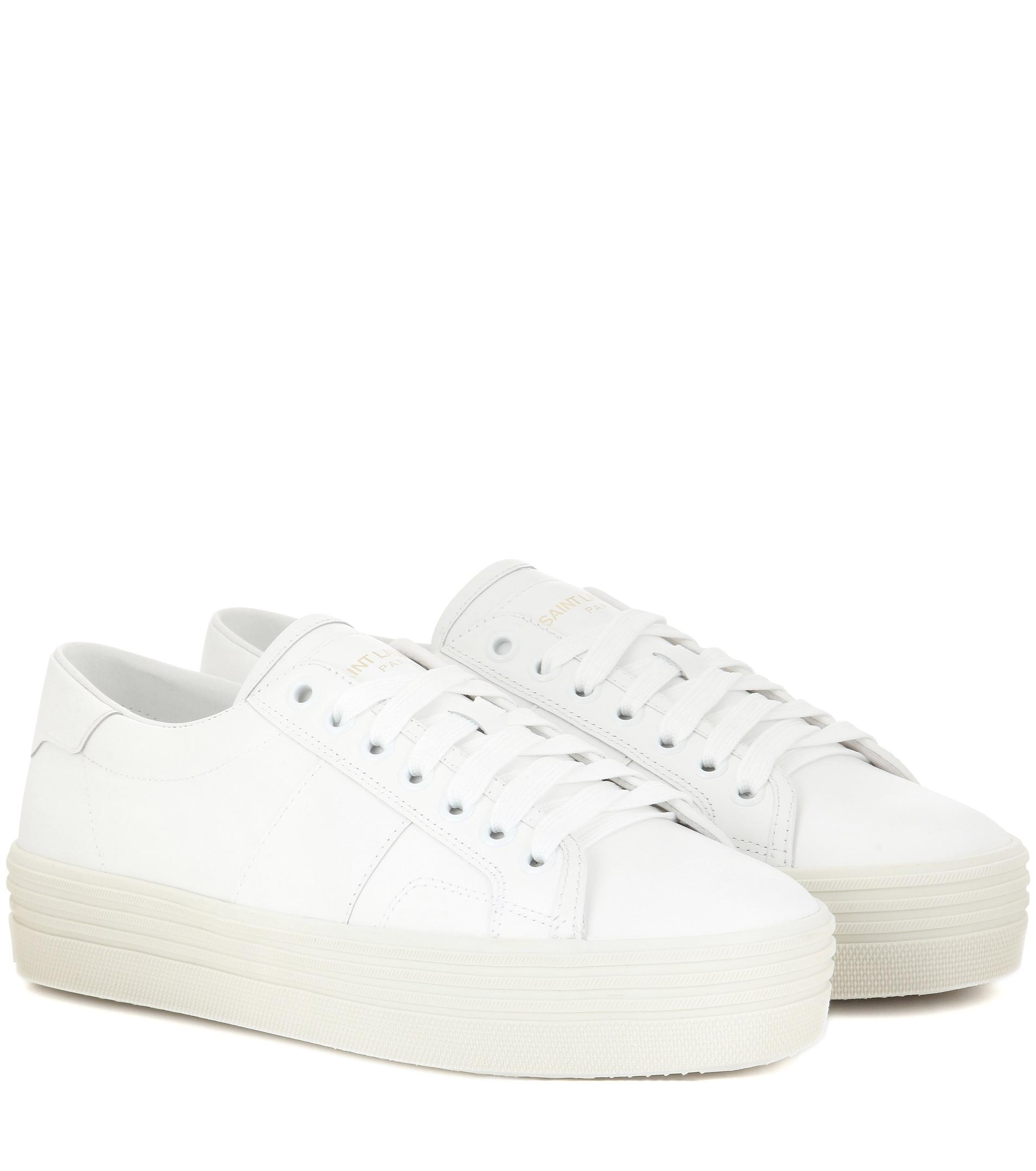 Outlet Top Quality Free Shipping Explore Signature Court sneakers - White Saint Laurent How Much Cheap Online Clearance Perfect Popular Cheap Online CNY9WAo