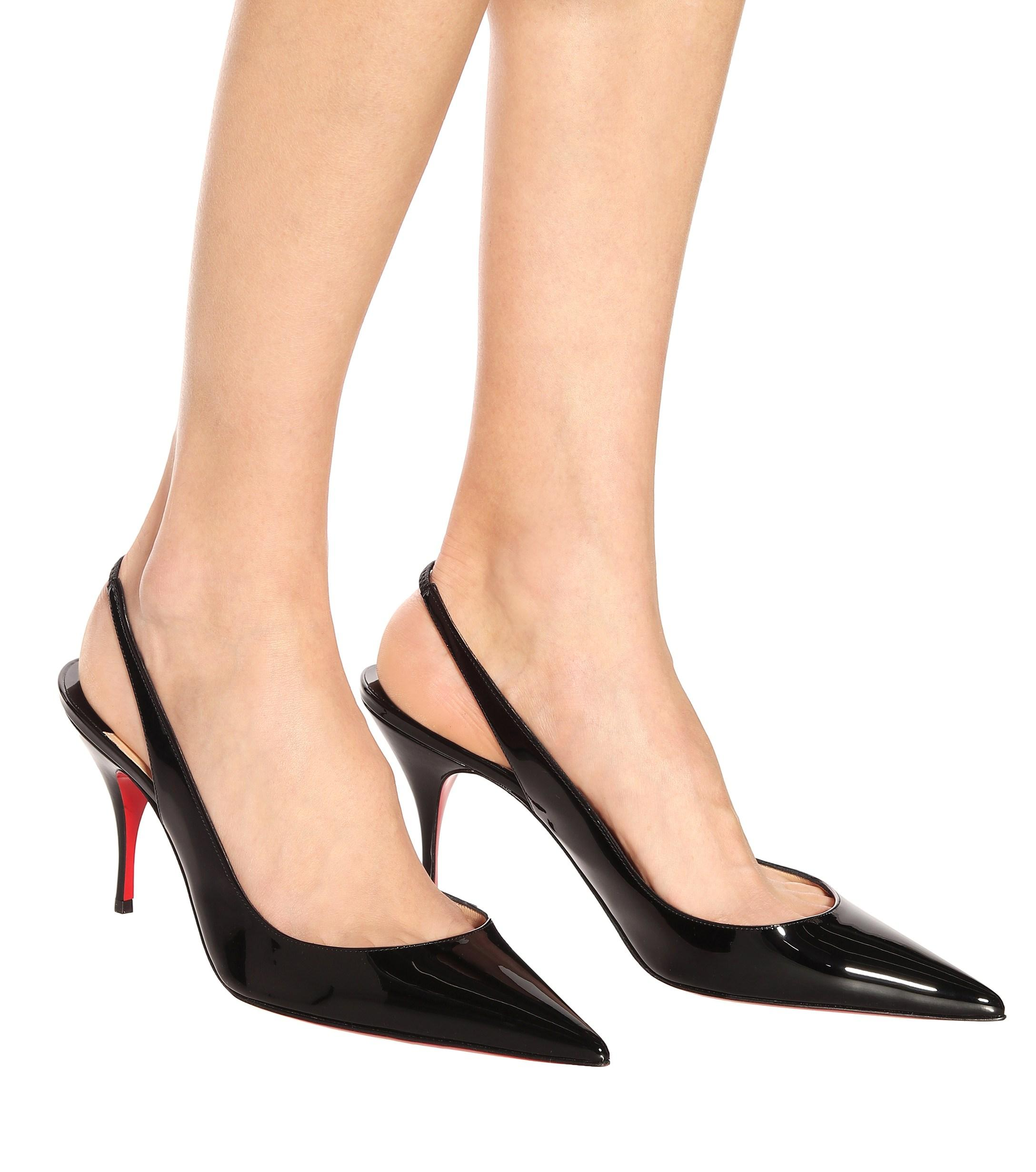 1032ab67541 Women's Black Clare Sling 80 Patent Leather Pumps