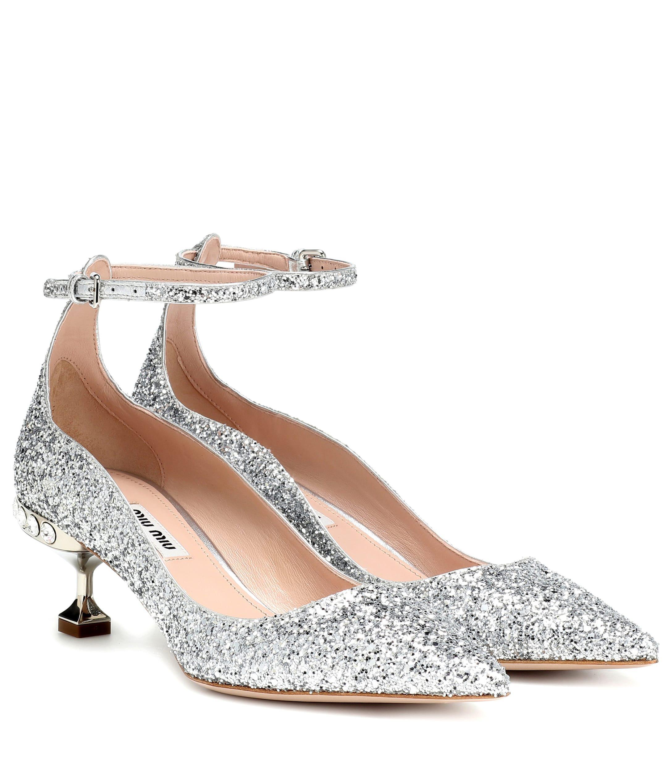 f1b21241a264 Miu Miu. Women s Glitter Kitten Heel Pumps.  790 From Mytheresa. Free  shipping ...