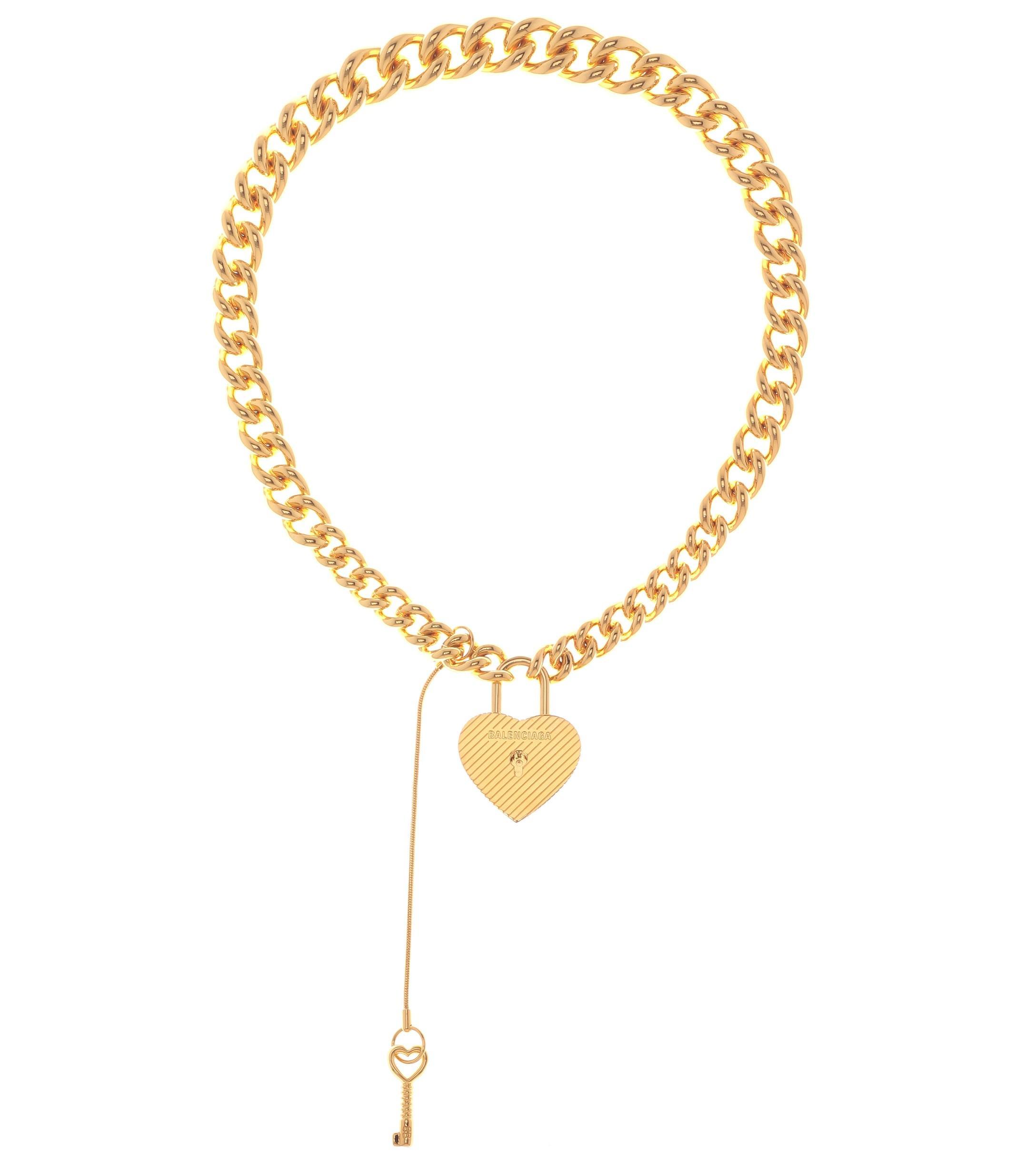 5a138624f4d8d Balenciaga Metallic Chunky Metal Necklace