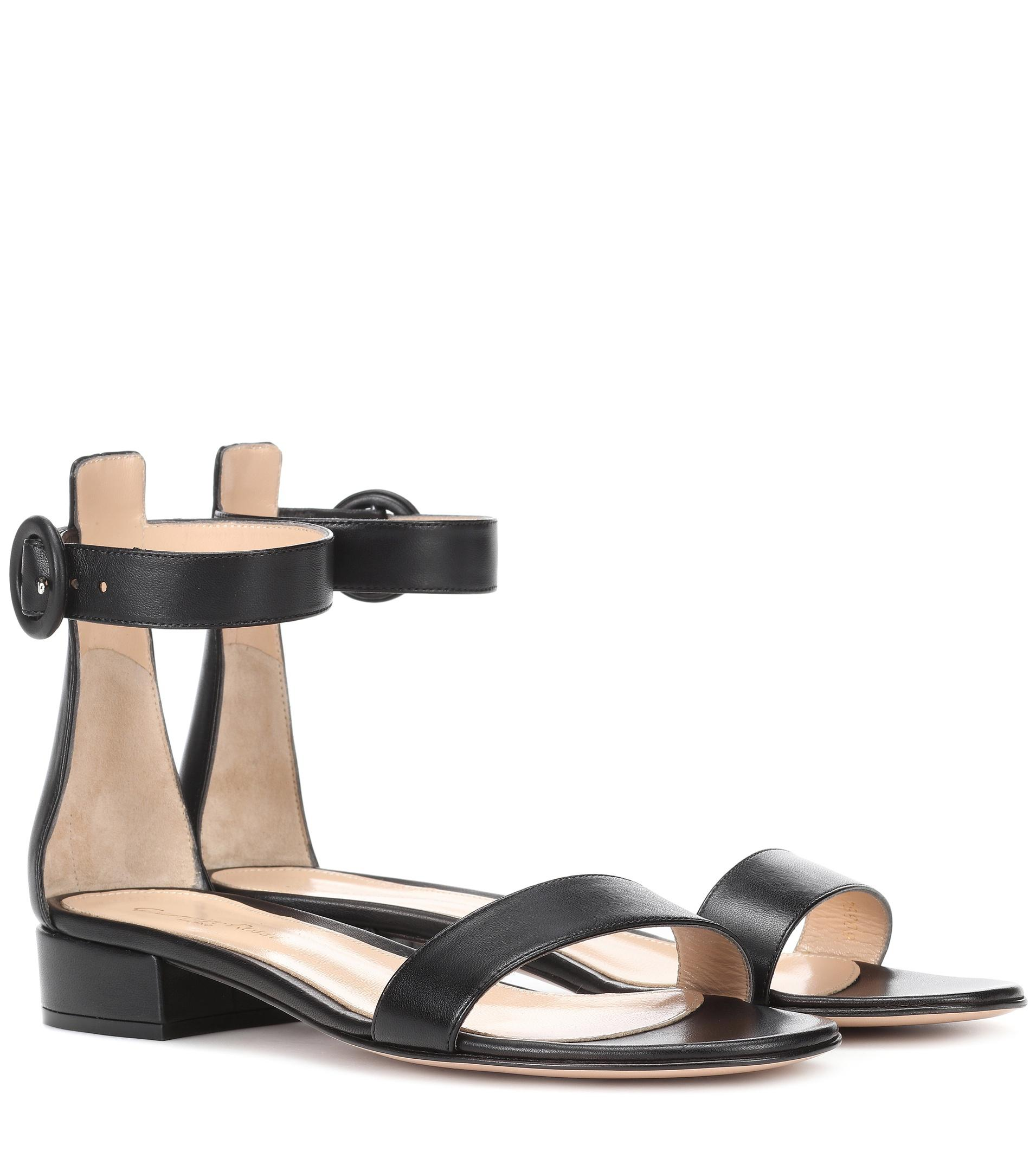 Portofino 20 Leather Sandals - Black Gianvito Rossi CfTXJvHET
