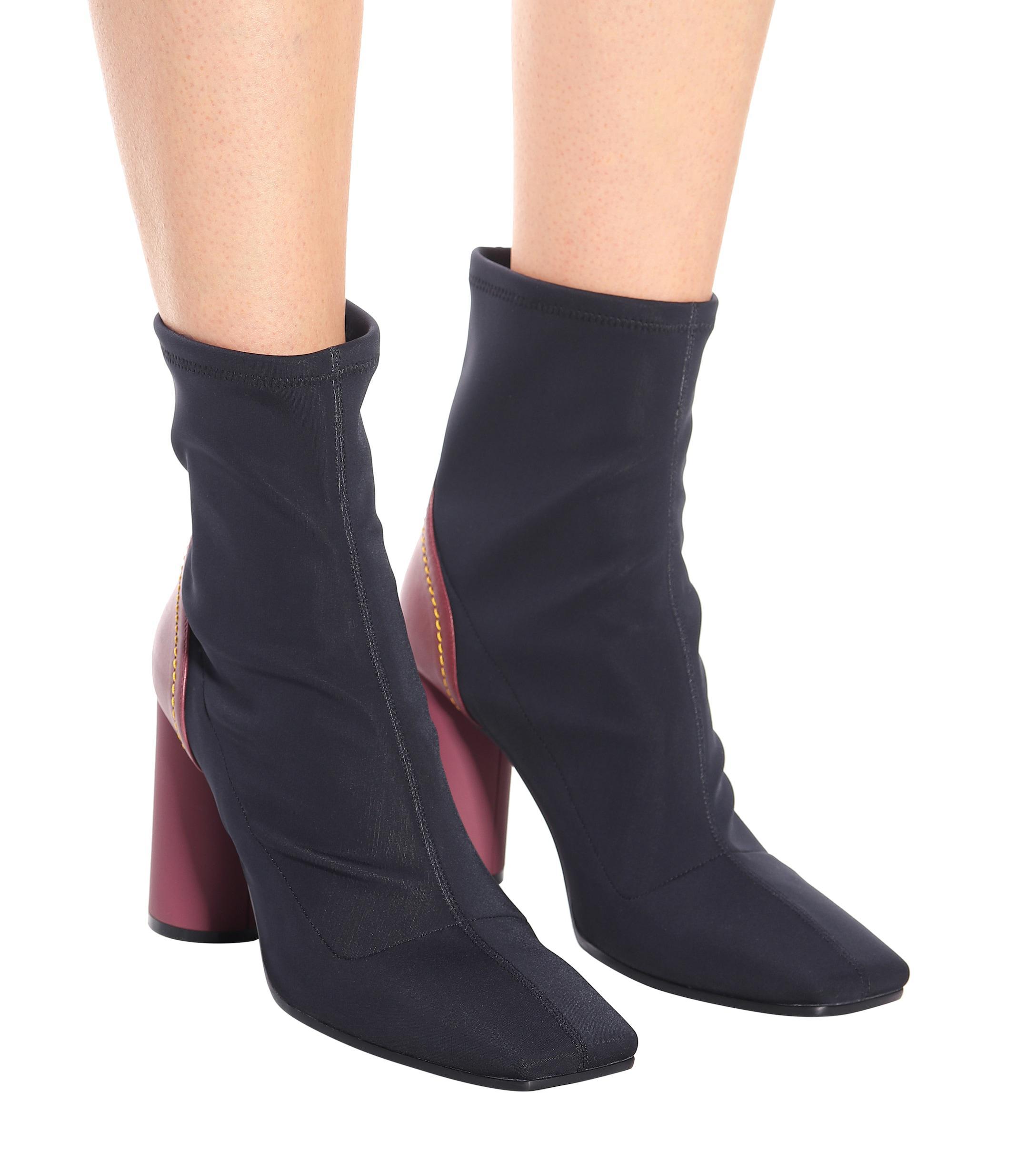 Ellery Neoprene Ankle Boots in Black