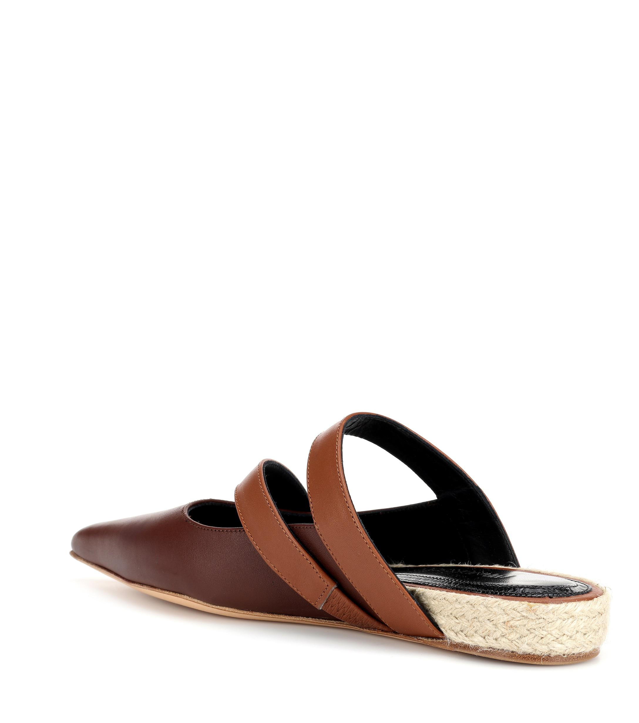 31a0d527c J.W. Anderson - Brown Leather Slipper - Lyst. View fullscreen