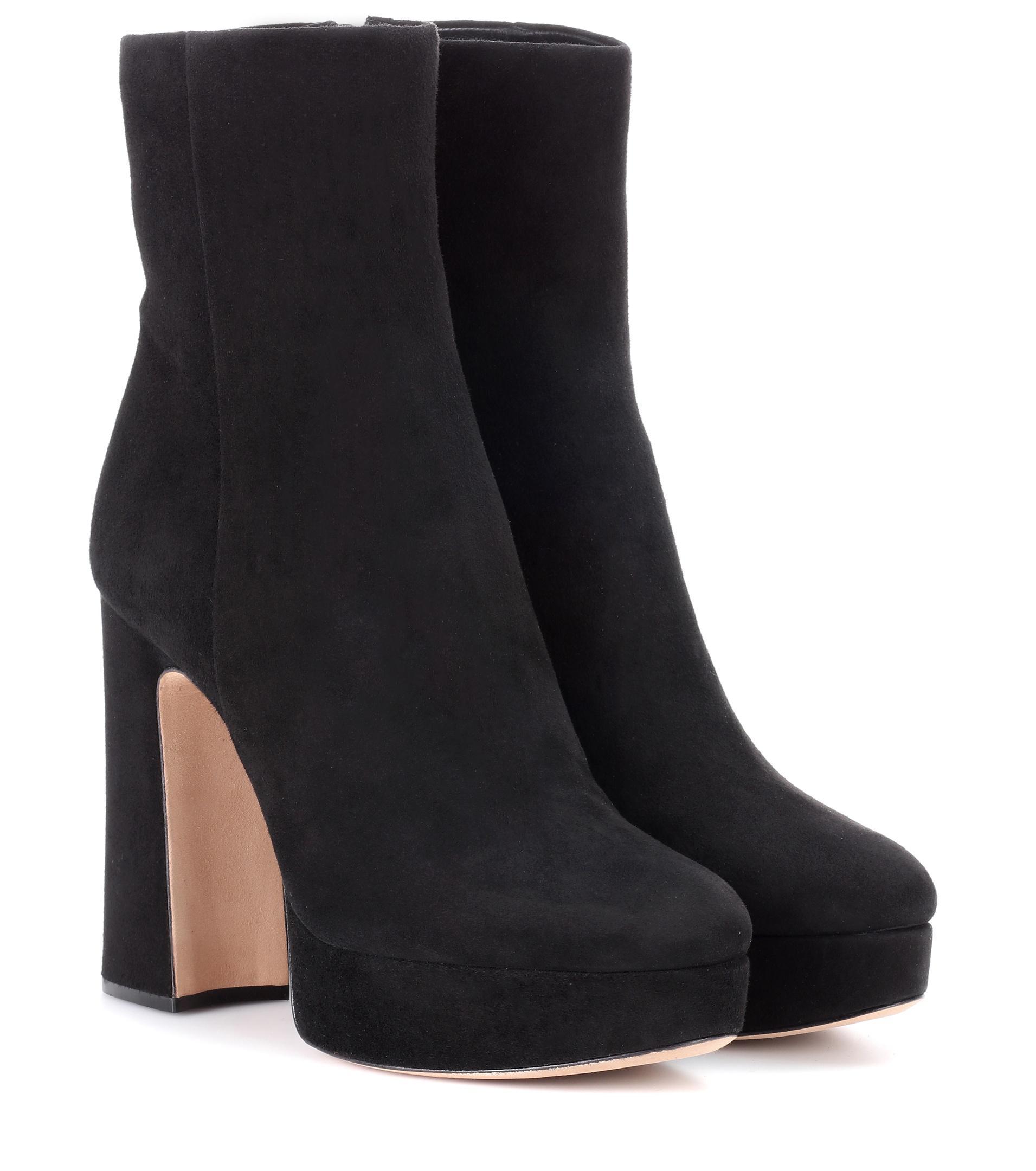 ALEXANDRE BIRMAN Leather plateau ankle boots JmamOTc4I