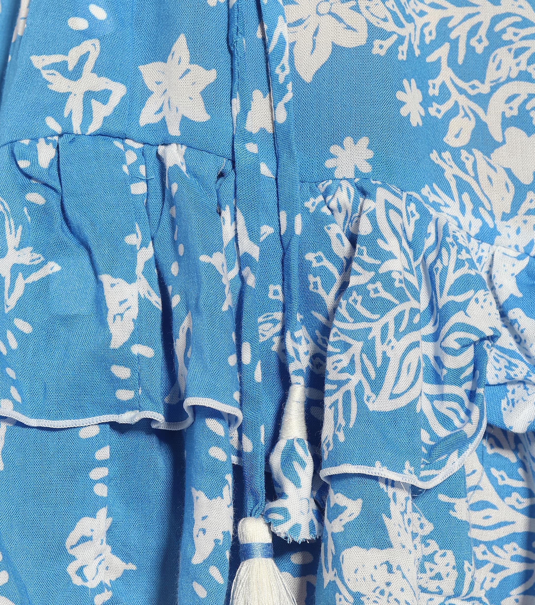 Vestido corto Ilona estampado Poupette de color Azul