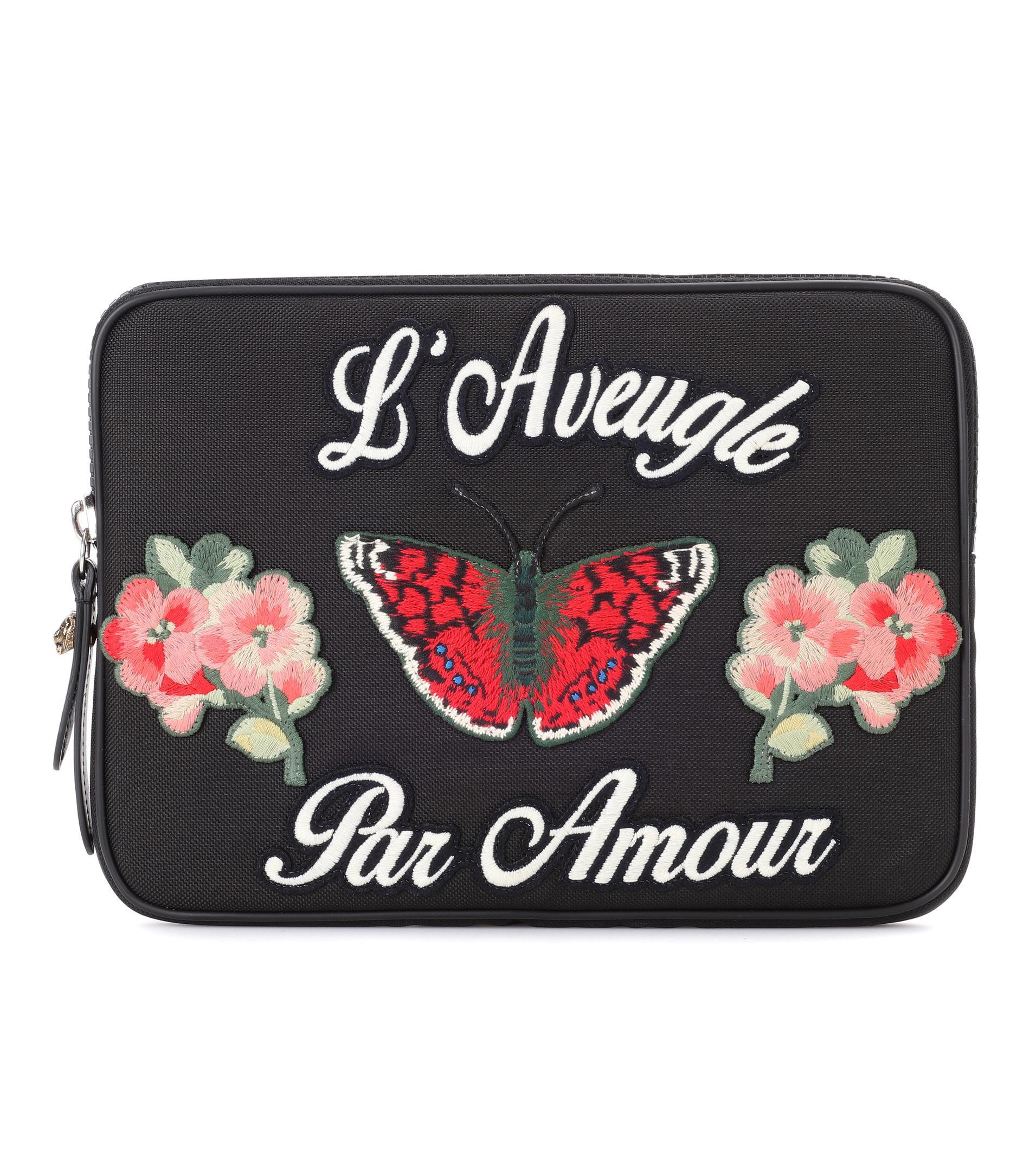 Embroidered iPad case Gucci INrdb7